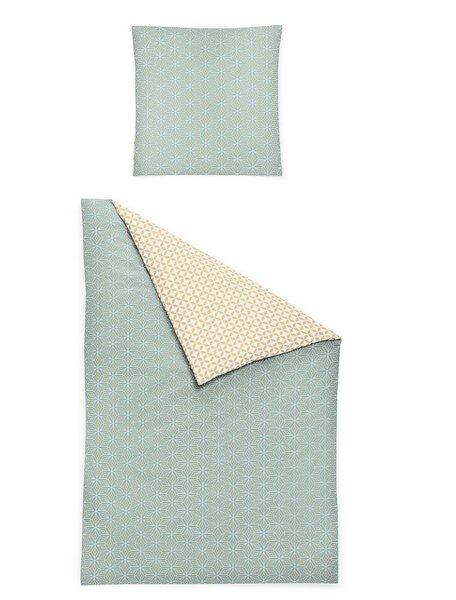 Satin-Bettwäsche Irisette Textil türkis/braun