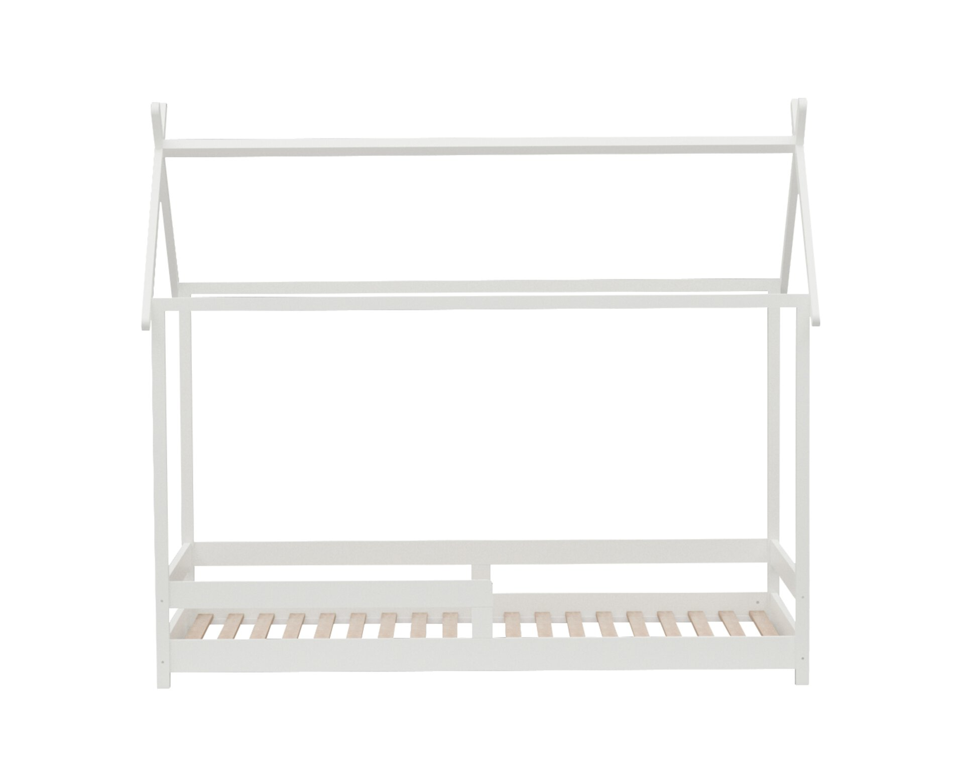 Kinderbett BIOUVAC inbuy Holzwerkstoff weiß 96 x 179 x 210 cm