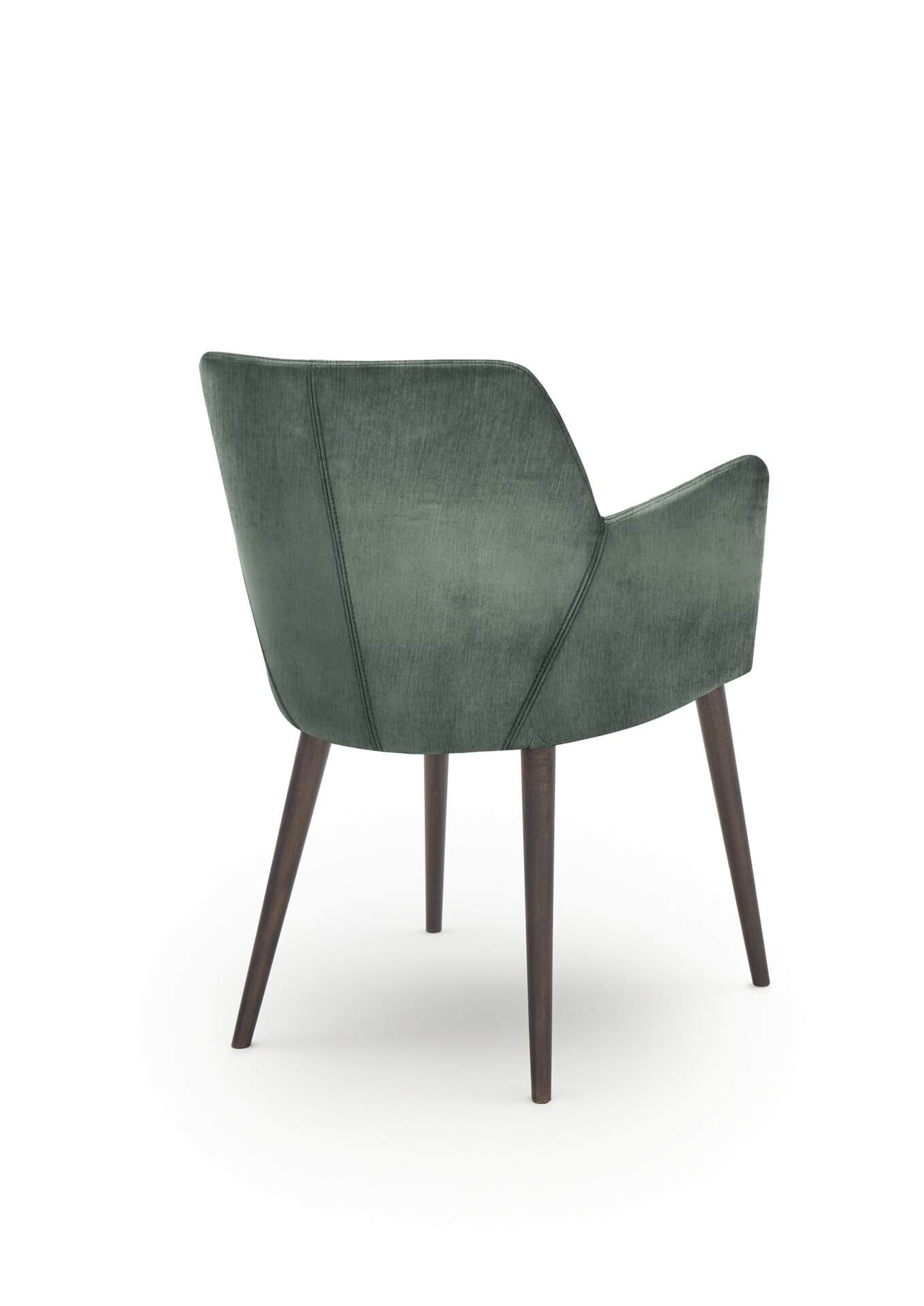 4-Fuß-Stuhl WK7005 Stuart WK Wohnen Edition Textil grün 57 x 83 x 59 cm