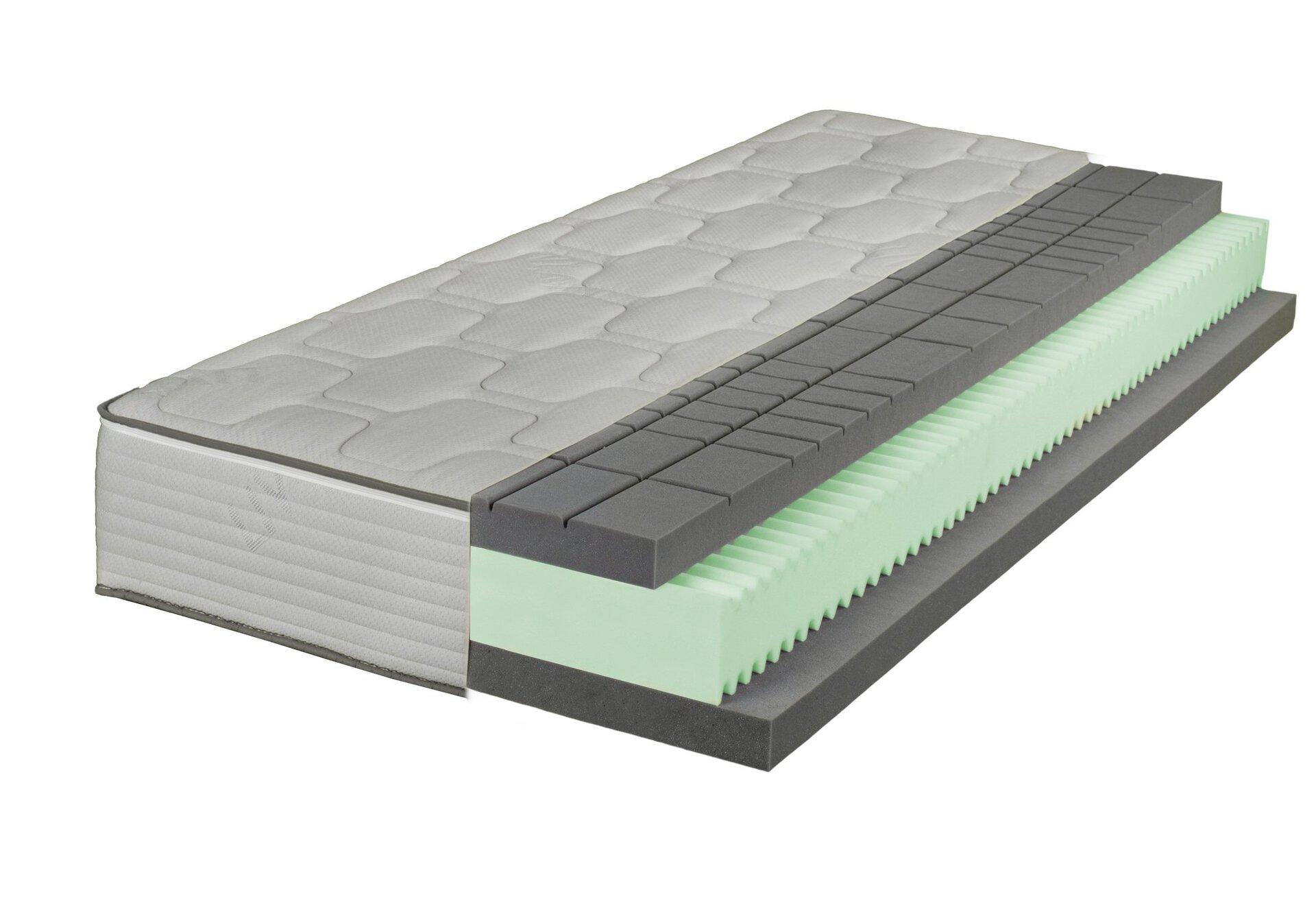 Komfortschaummatratze SAPPORO LIV'IN LIV'IN Textil weiß 200 x 26 x 90 cm