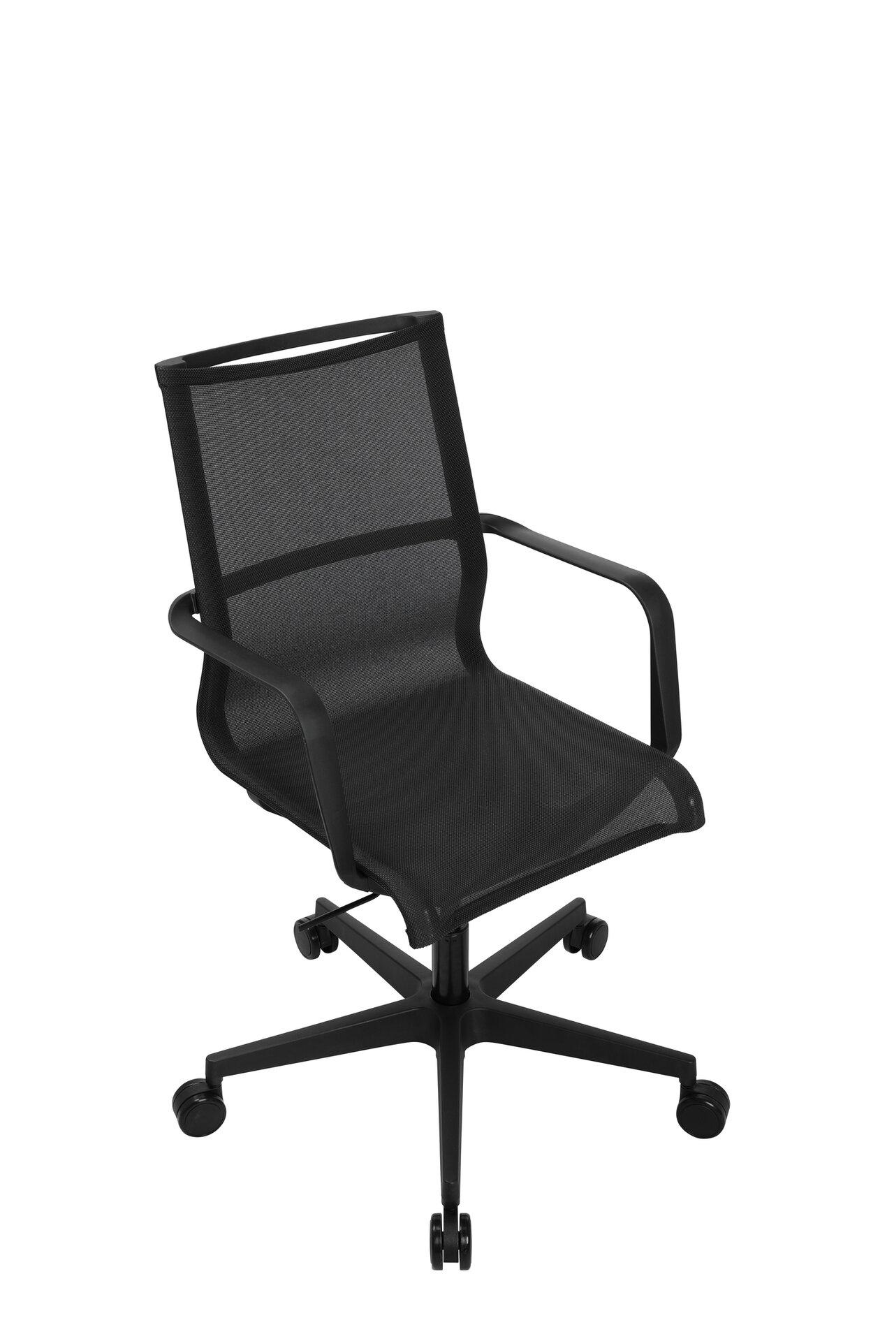 Büro-Drehstuhl SITNESS LIFE 40 Topstar Textil schwarz 54 x 104 x 58 cm