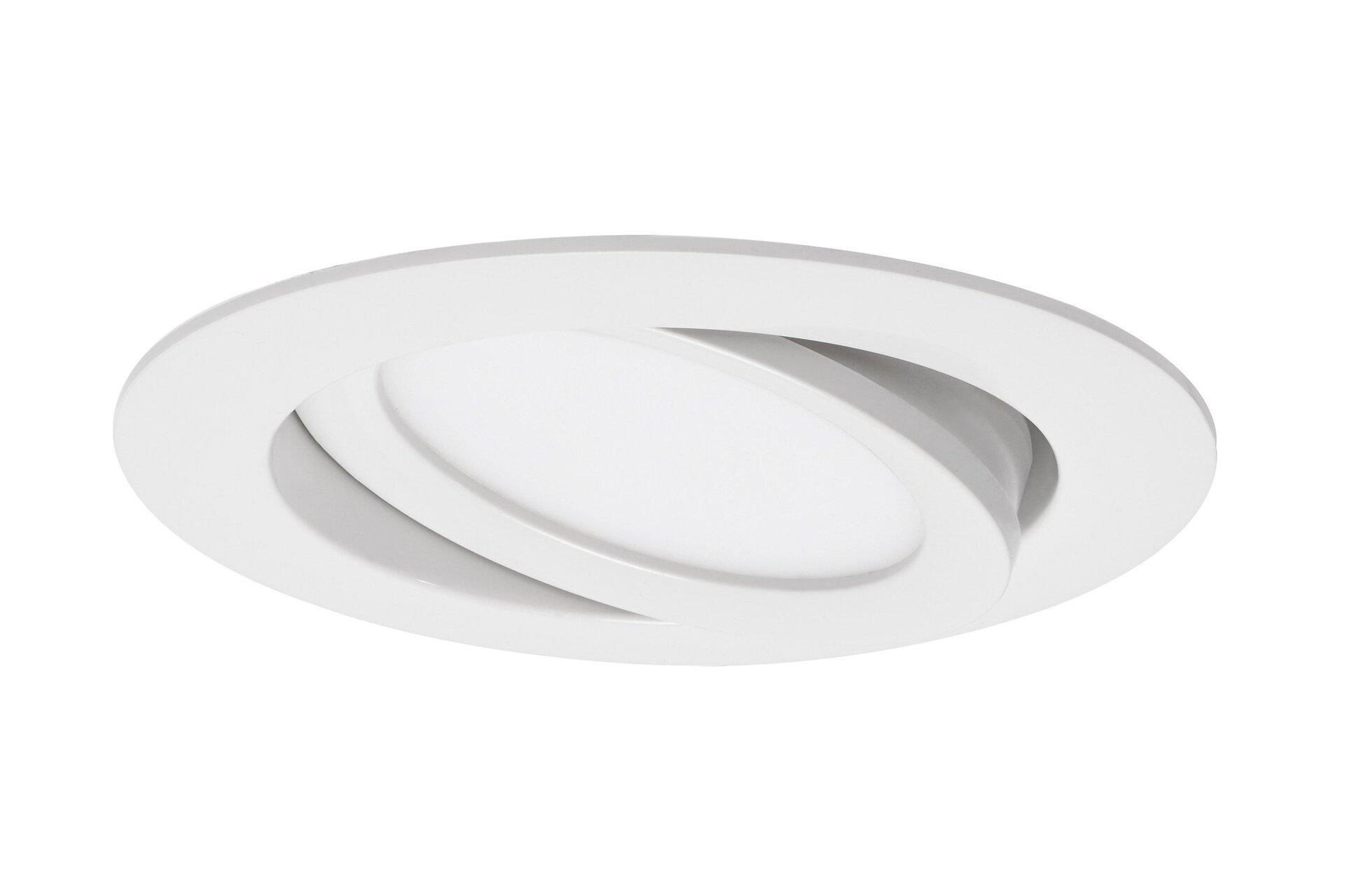 Einbauspot Flat In Briloner Metall weiß 11 x 3 x 11 cm