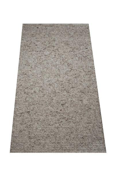 Handwebteppich Allgäuer Teppichmanufaktur Textil 1/02 grau