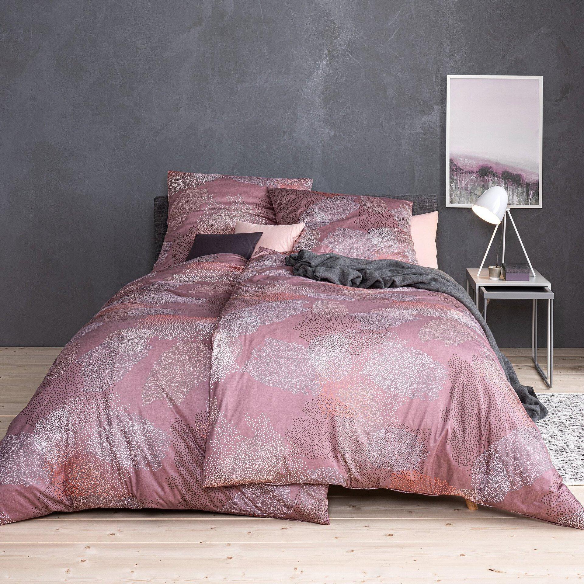 Jersey-Bettwäsche Marino Estella Textil rosa 1 x 2 cm