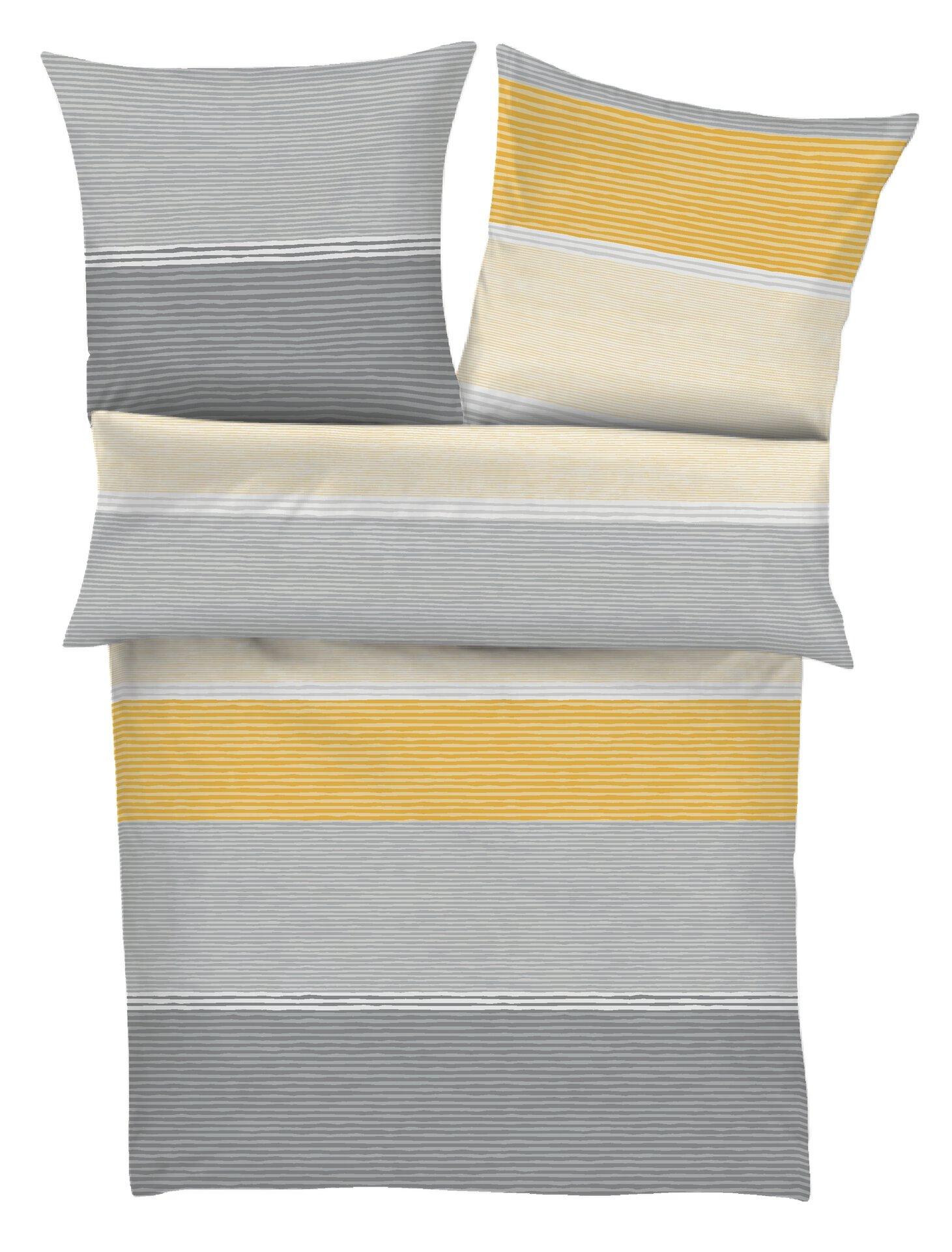 Satin-Bettwäsche S. Oliver Textil grau 155 x 220 cm