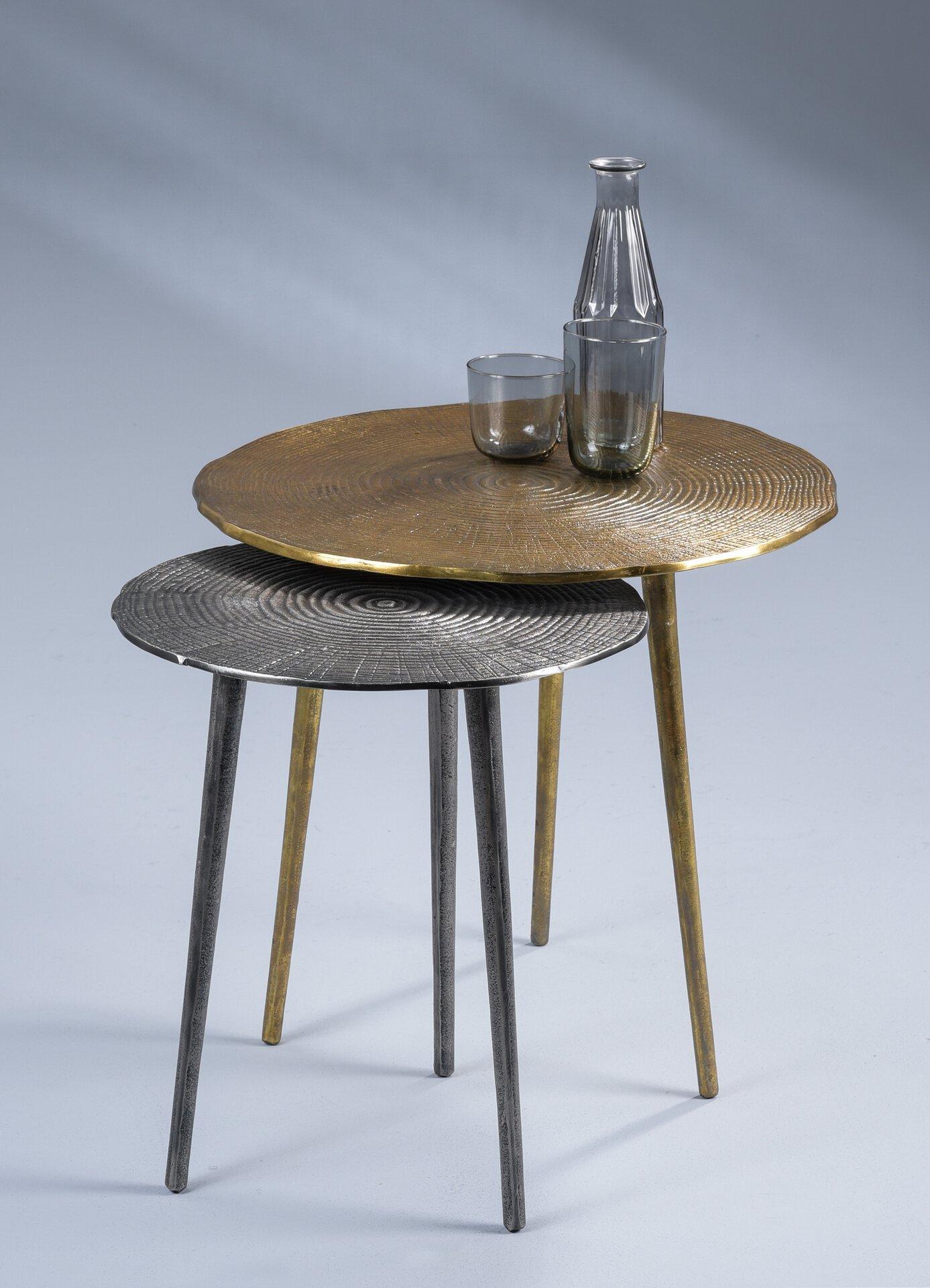 Couchtisch KUMAR 2 M2 Kollektion Metall grau 50 x 50 x 50 cm