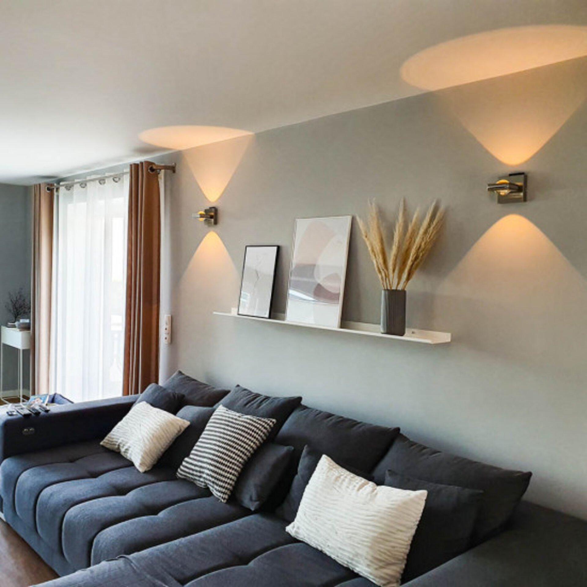 Smart-Home-Leuchten Q-FISHEYE Paul Neuhaus Metall silber 11 x 11 x 15 cm