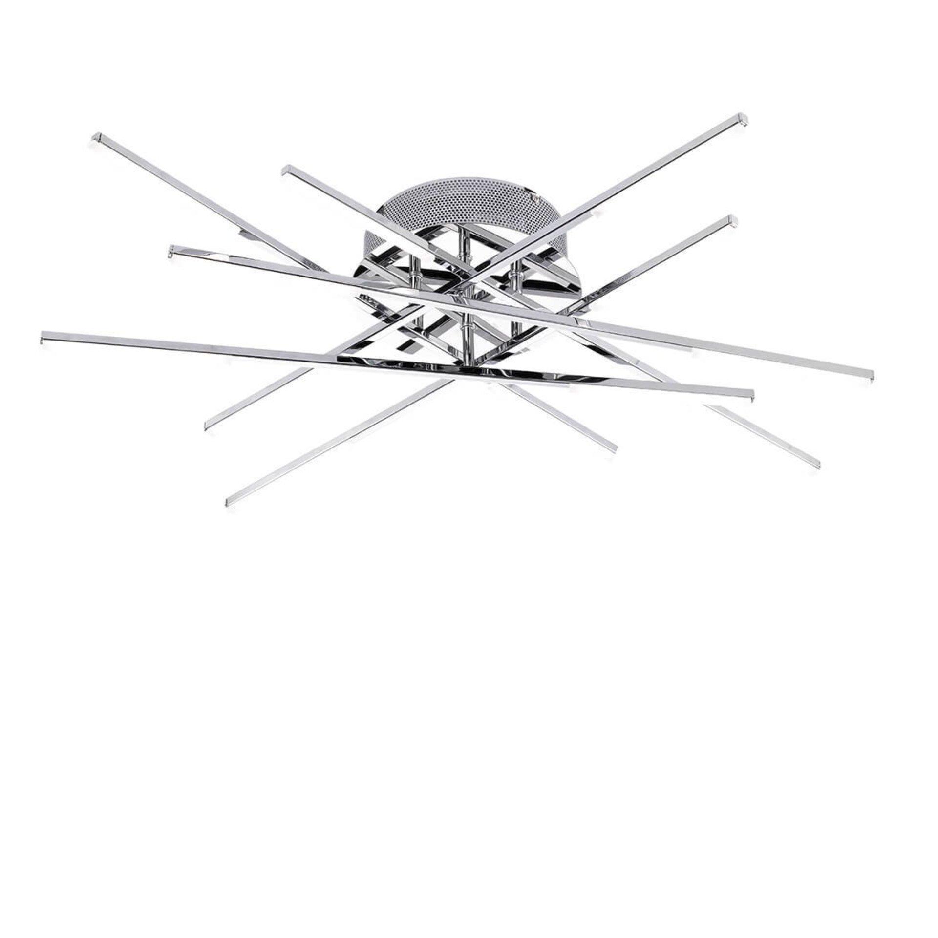 Deckenleuchte Forte Wofi Leuchten Metall silber 80 x 12 x 80 cm