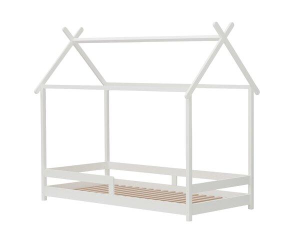 Kinderbett inbuy Holzwerkstoff MDF Weiss ca. 96 cm x 179 cm x 210 cm