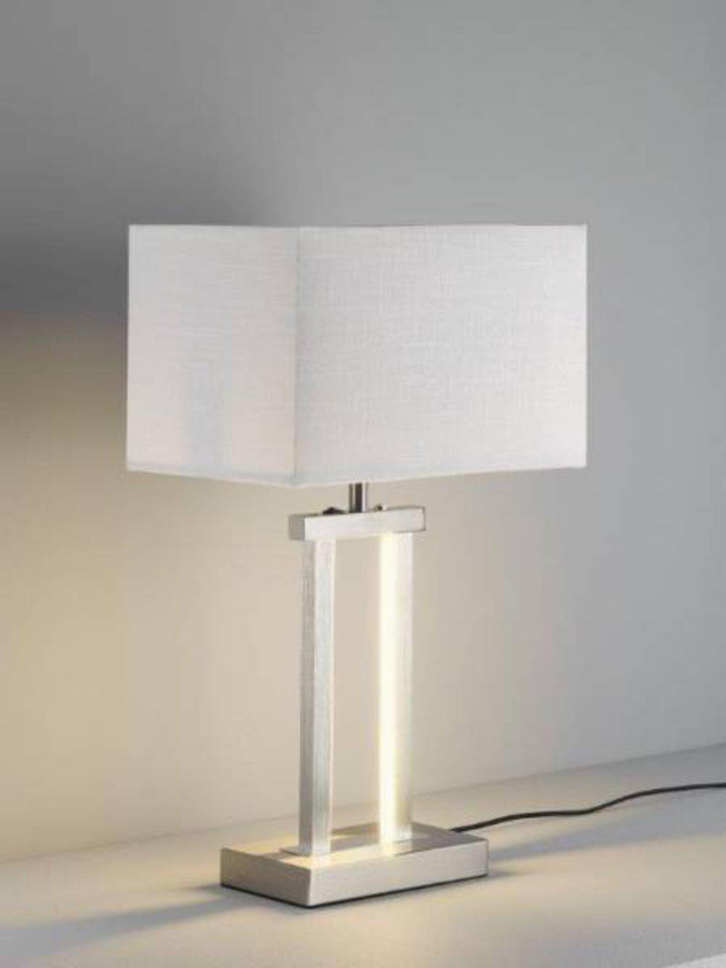 Tischleuchte Domo MONDO Metall silber 32 x 55 x 20 cm
