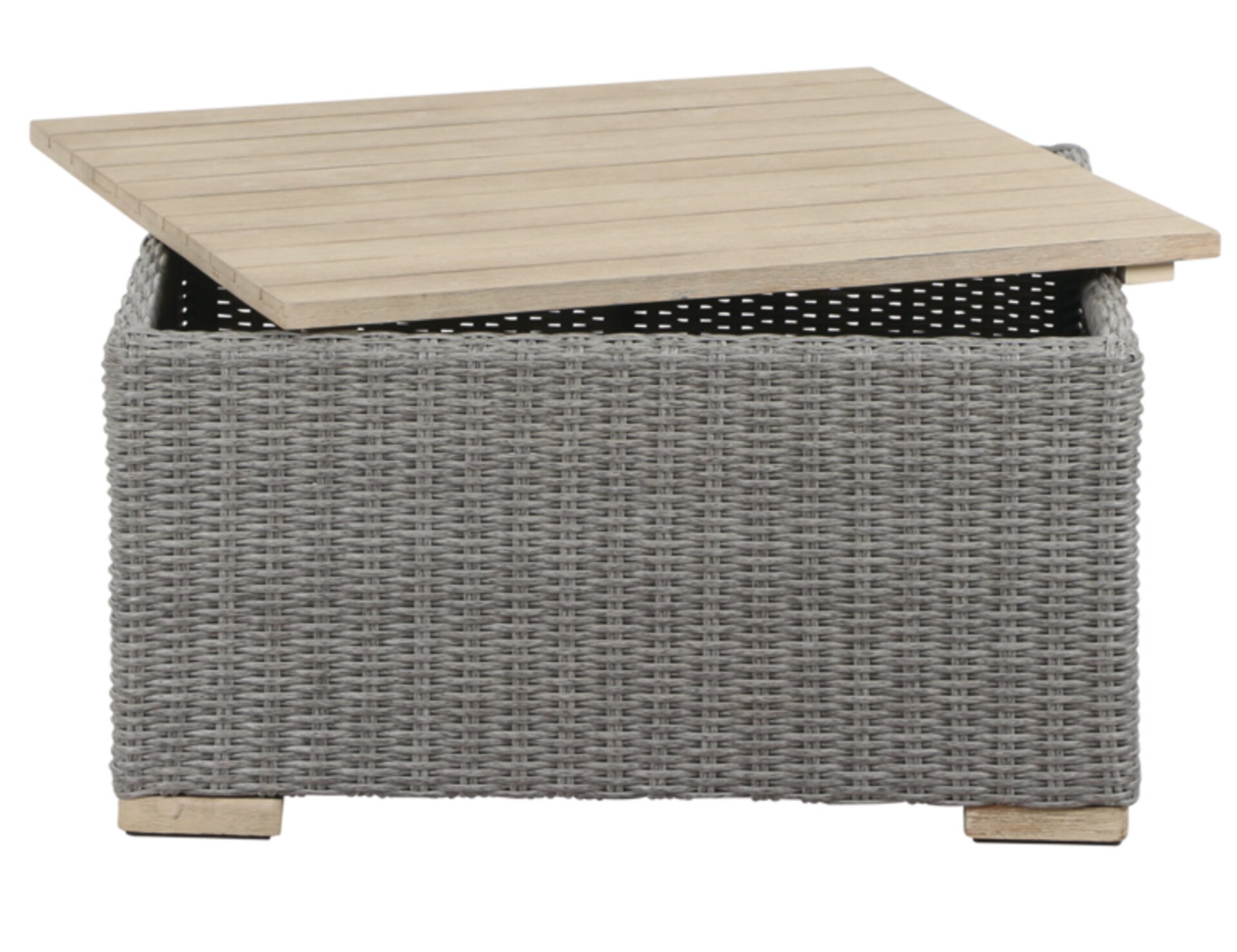 Beistelltisch MORINA Siena Garden Kunststoff grau 85 x 48 x 85 cm