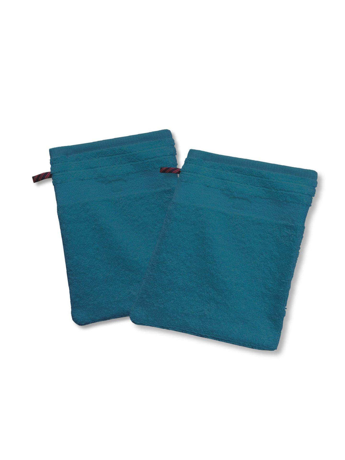 Waschhandschuh Uni Towel Tom Tailor Textil Blau 16 x 22 cm
