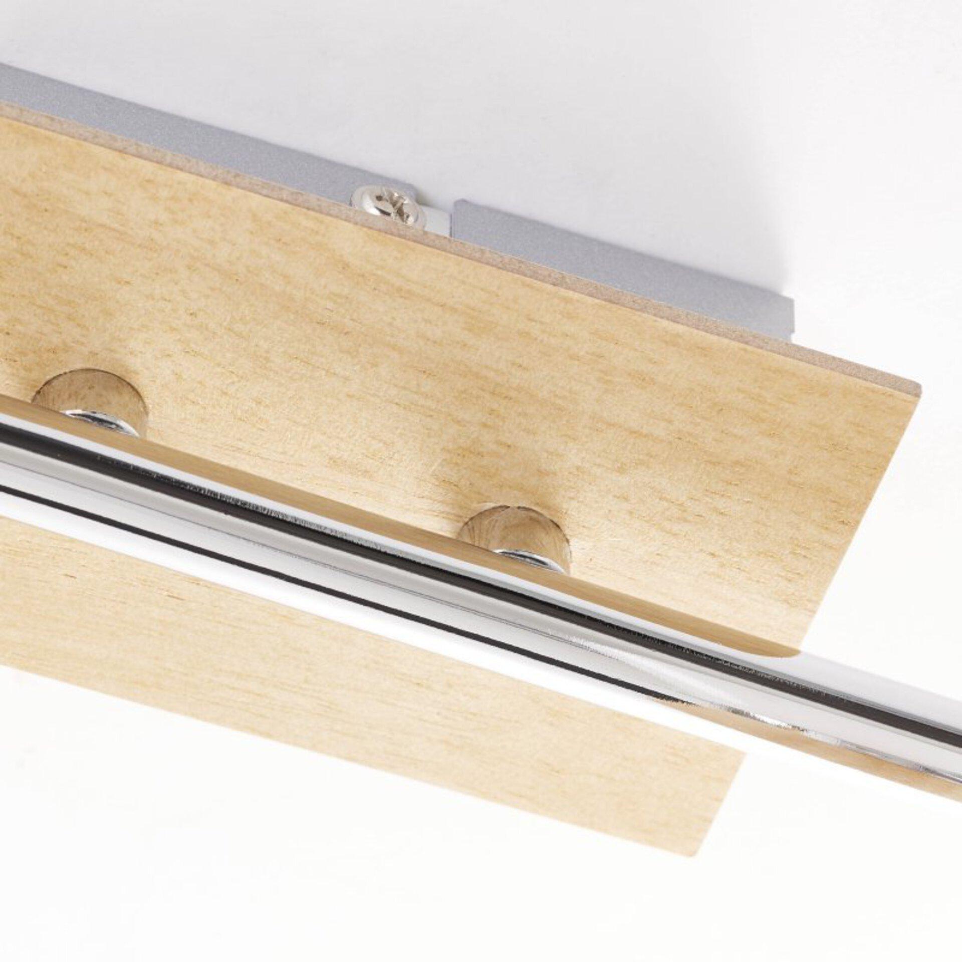 Strahler NACOLLA Brilliant Holz 33 x 16 x 33 cm