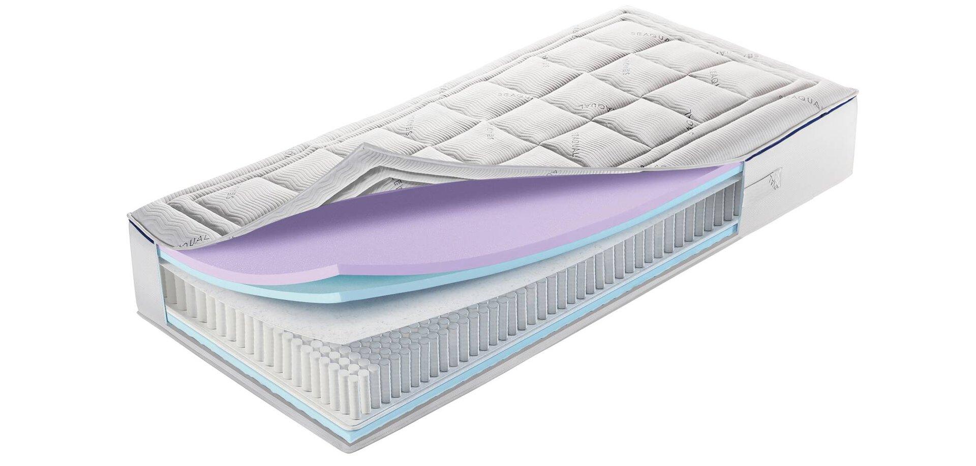 Taschenfederkernmatratze Deepblue Andros MONDO Textil weiß 140 x 27 x 200 cm
