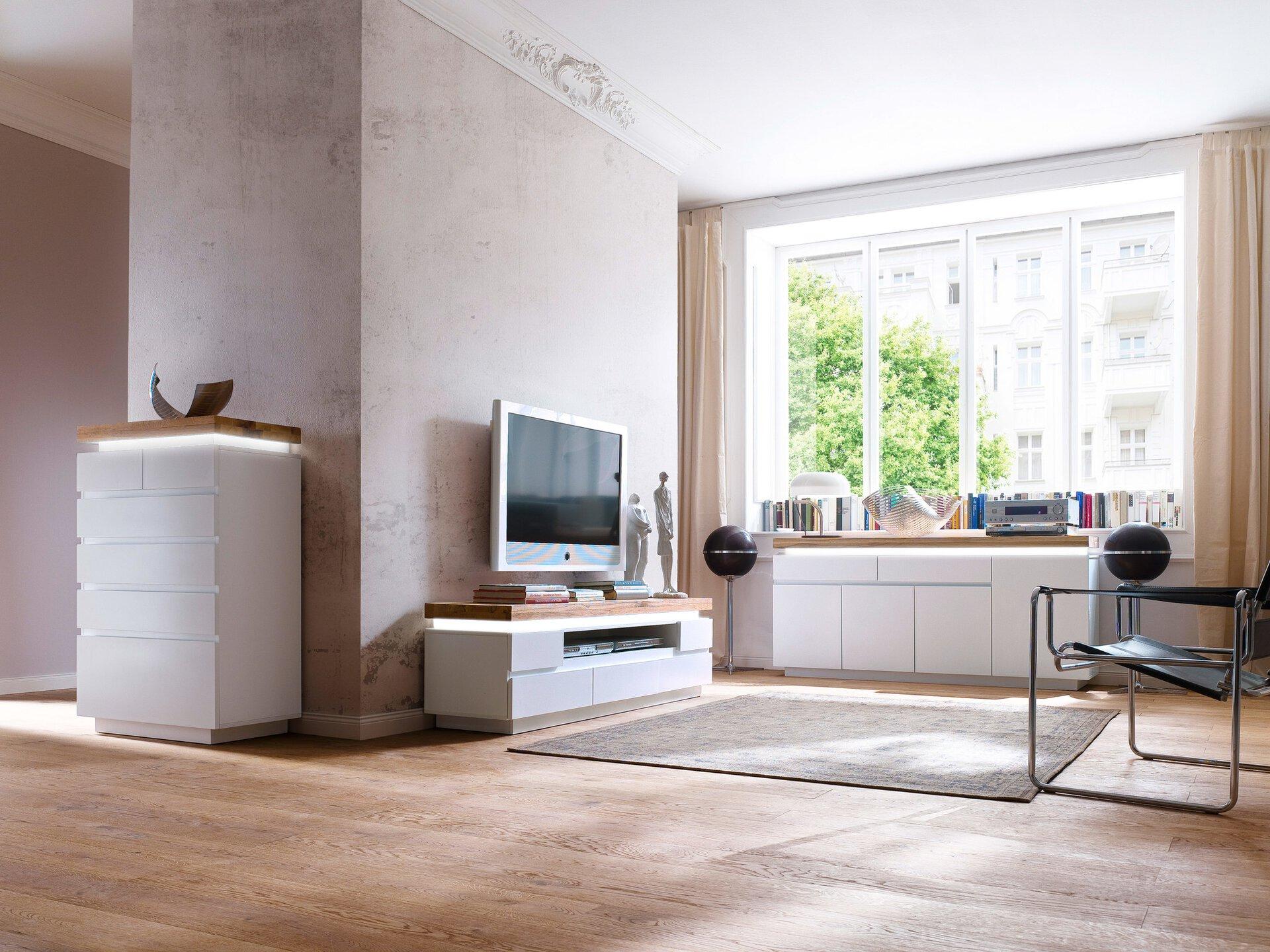 Sideboard ROMINA MCA furniture Holzwerkstoff mehrfarbig 40 x 81 x 150 cm