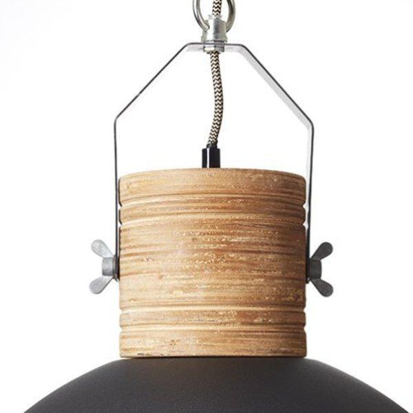 Hängeleuchte Brilliant Holz schwarz, braun ca. 47 cm x 140 cm x 47 cm