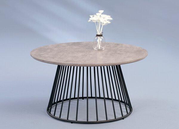 Beistelltisch M2 Kollektion Holzwerkstoff, Metall Betonoptik grau ca. 80 cm x 50 cm x 80 cm