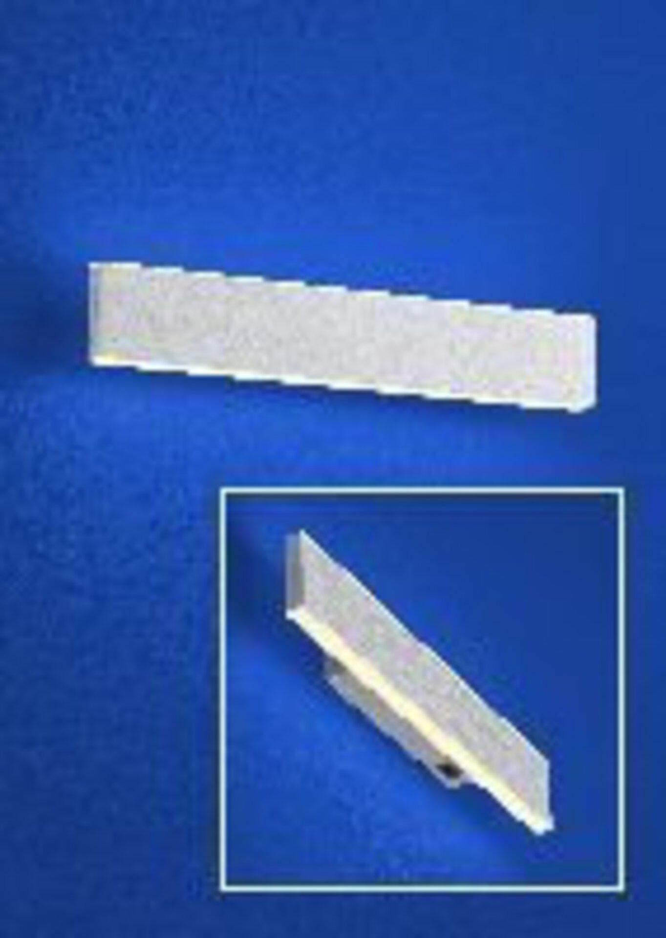 Wandleuchte DELTA B-Leuchten Metall silber 5 x 3 x 30 cm