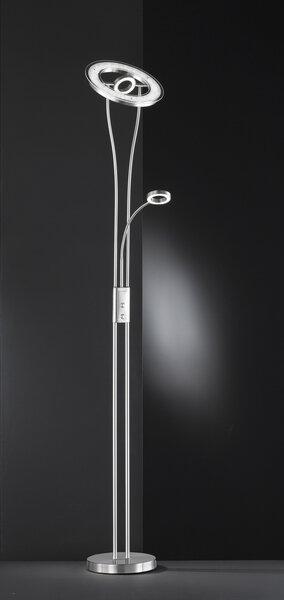 Stehleuchte Wofi Leuchten Metall nickel ca. 28 cm x 180 cm x 28 cm