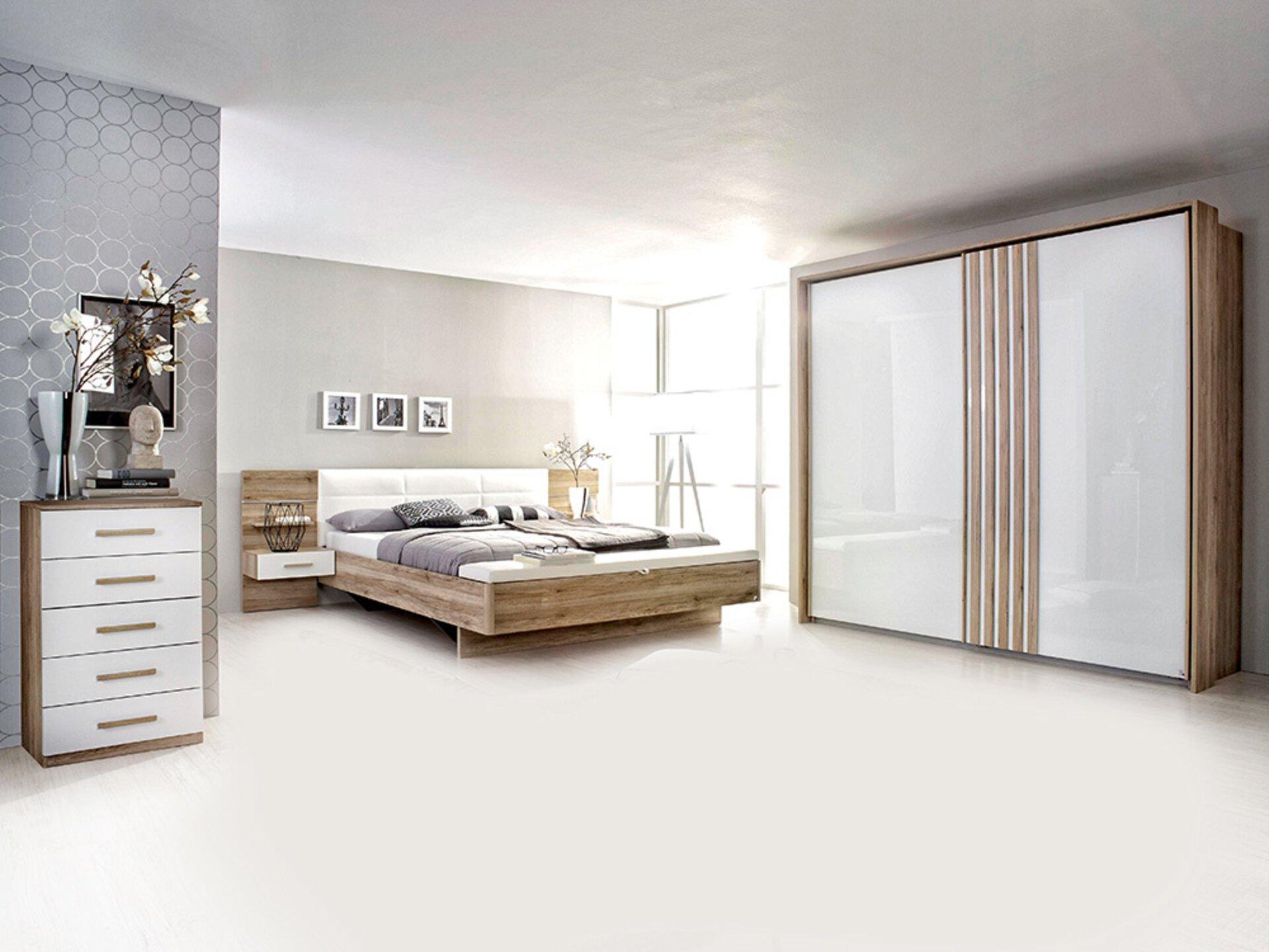 Schwebetürenschrank MOSBACH rauch ORANGE Holzwerkstoff 62 x 210 x 226 cm