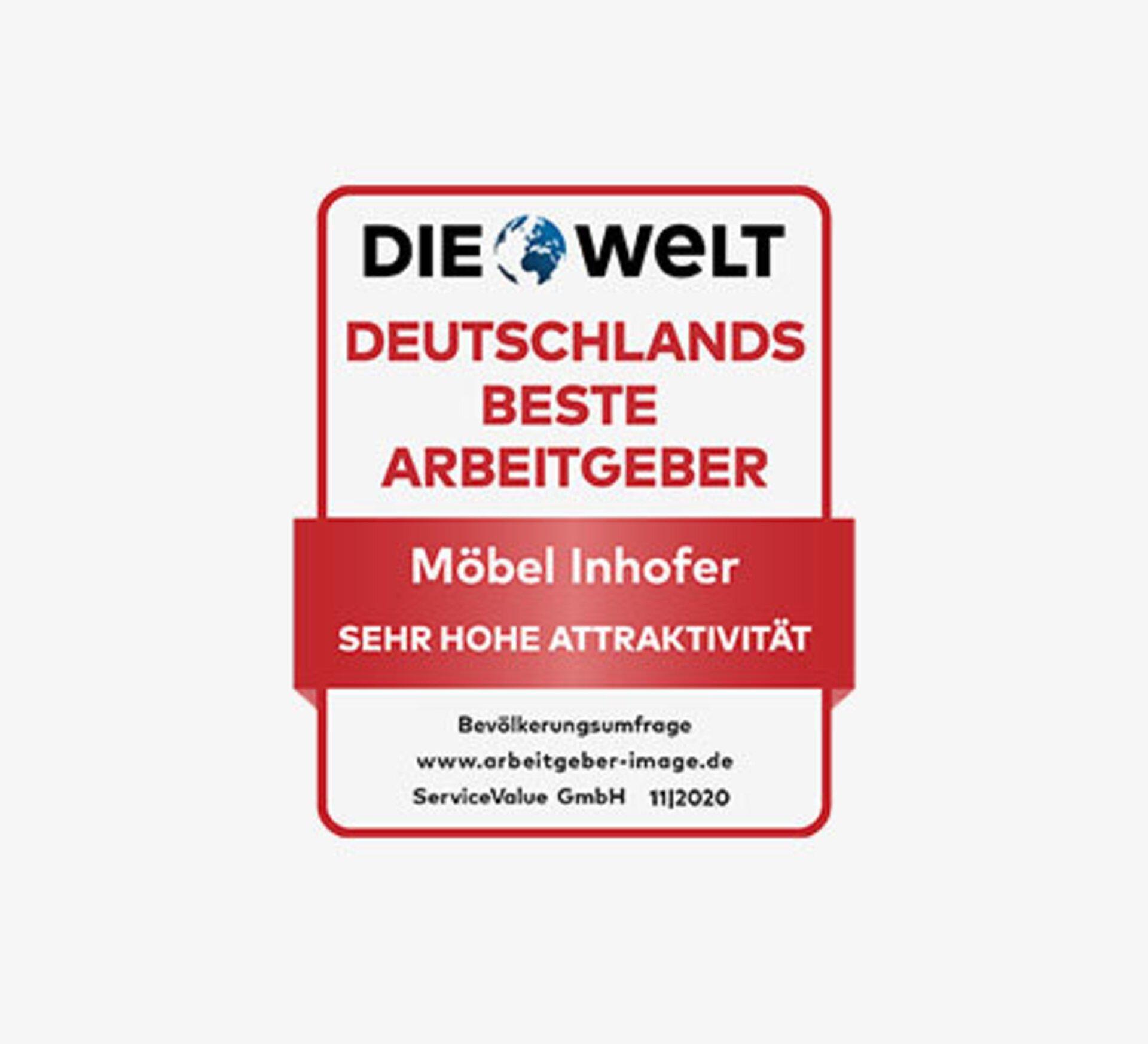 Auszeichnung zu Deutschlands beste Arbeitgeber