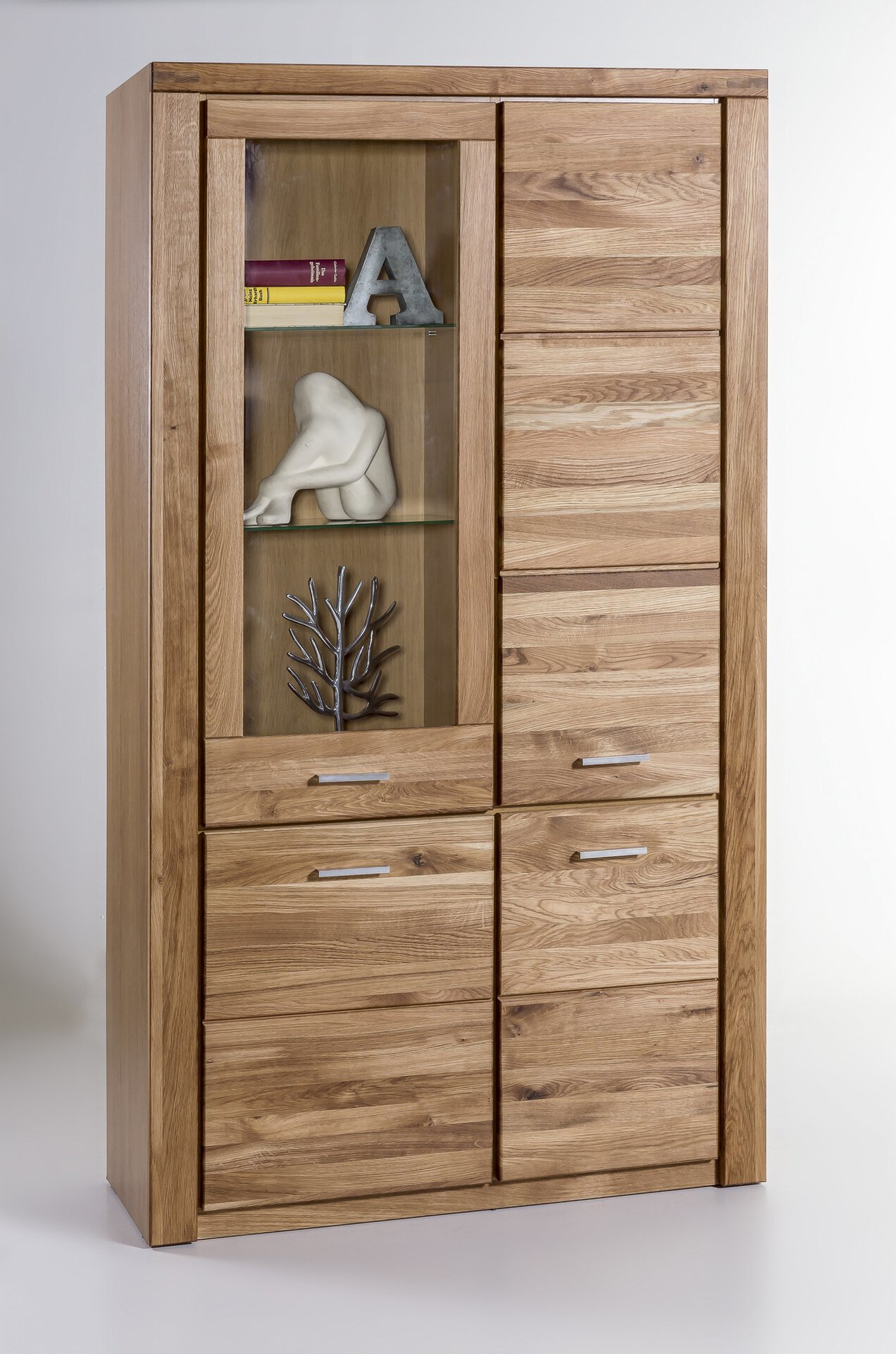 Vitrine TABEA CELECT Holz braun 40 x 200 x 110 cm