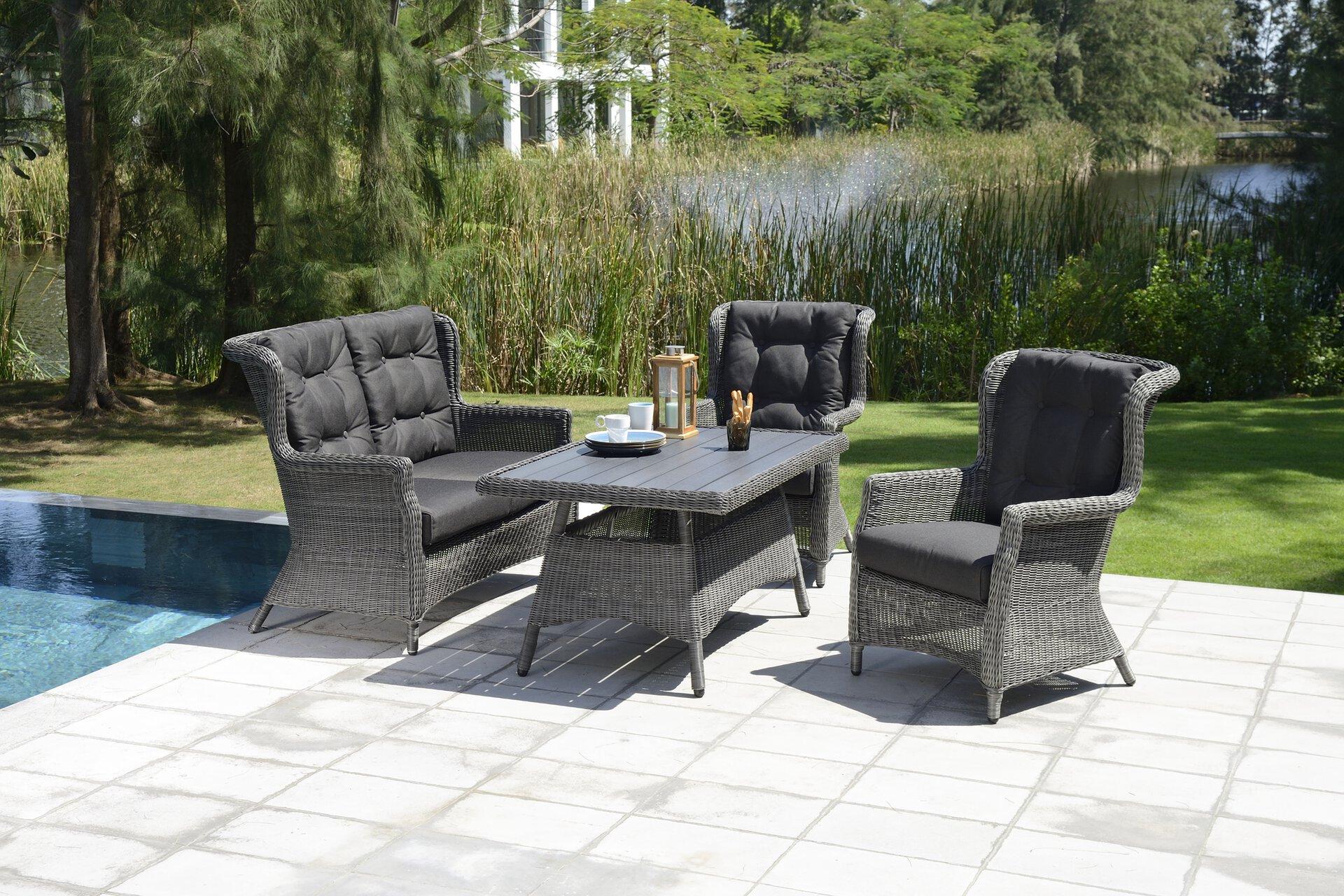 Gartenstuhl SVENJA Outdoor Metall grau 80 x 100 x 66 cm