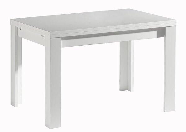 Tisch mit Ansteckplatte Mäusbacher Holzwerkstoff, Textil Weiß matt