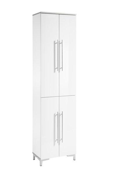 Hochschrank Vito Holzwerkstoff MDF Weiß Hochglanz ca. 31 cm x 1 cm x 50 cm