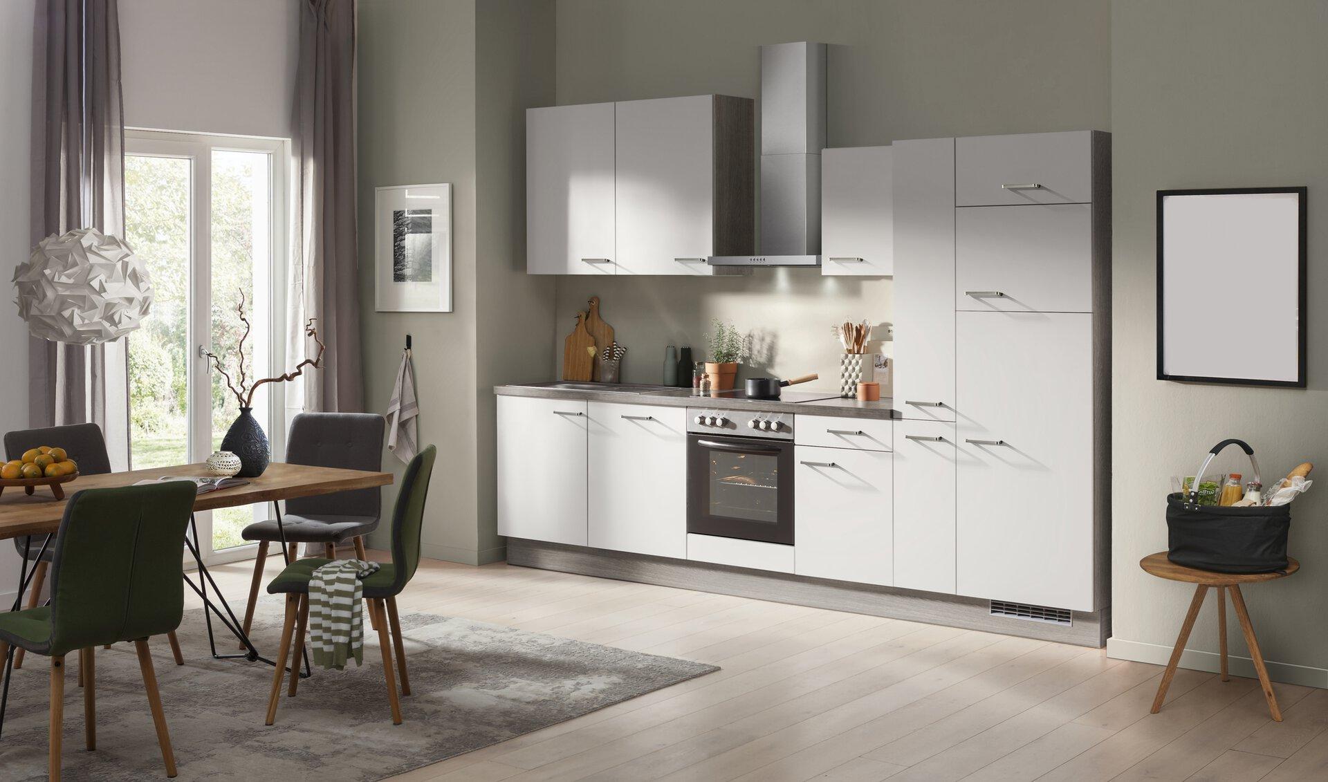 Küchenblock Fakta Holzwerkstoff grau 56 x 235 x 320 cm