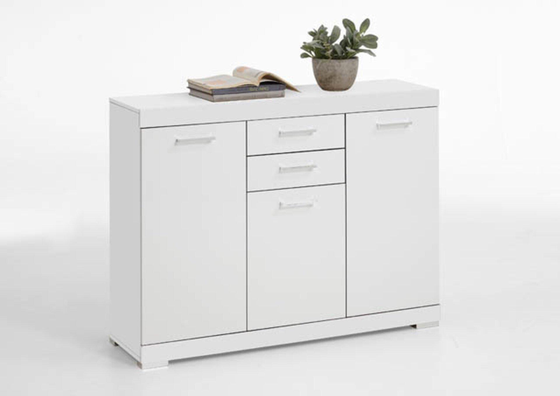 Kommode inbuy Holzwerkstoff weiß 35 x 90 x 120 cm