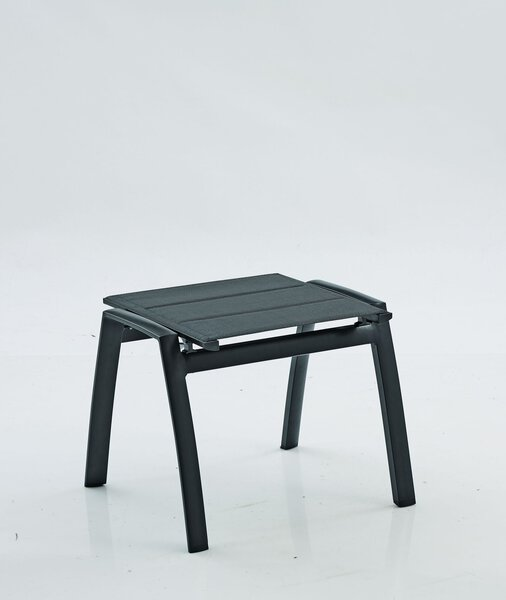 Hocker Outdoor Metall anthrazit ca. 58 cm x 44 cm x 53 cm