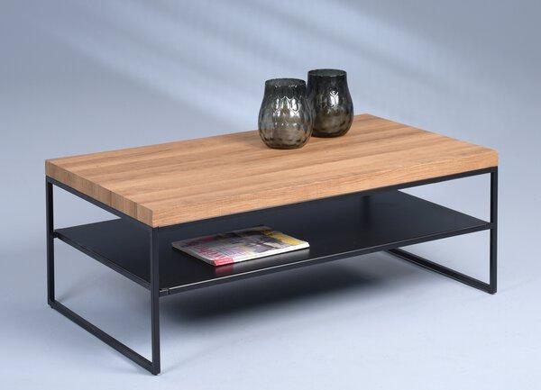 Beistelltisch M2 Kollektion Holzwerkstoff, Metall MDF Dekor Eiche braun ca. 60 cm x 40 cm x 106 cm