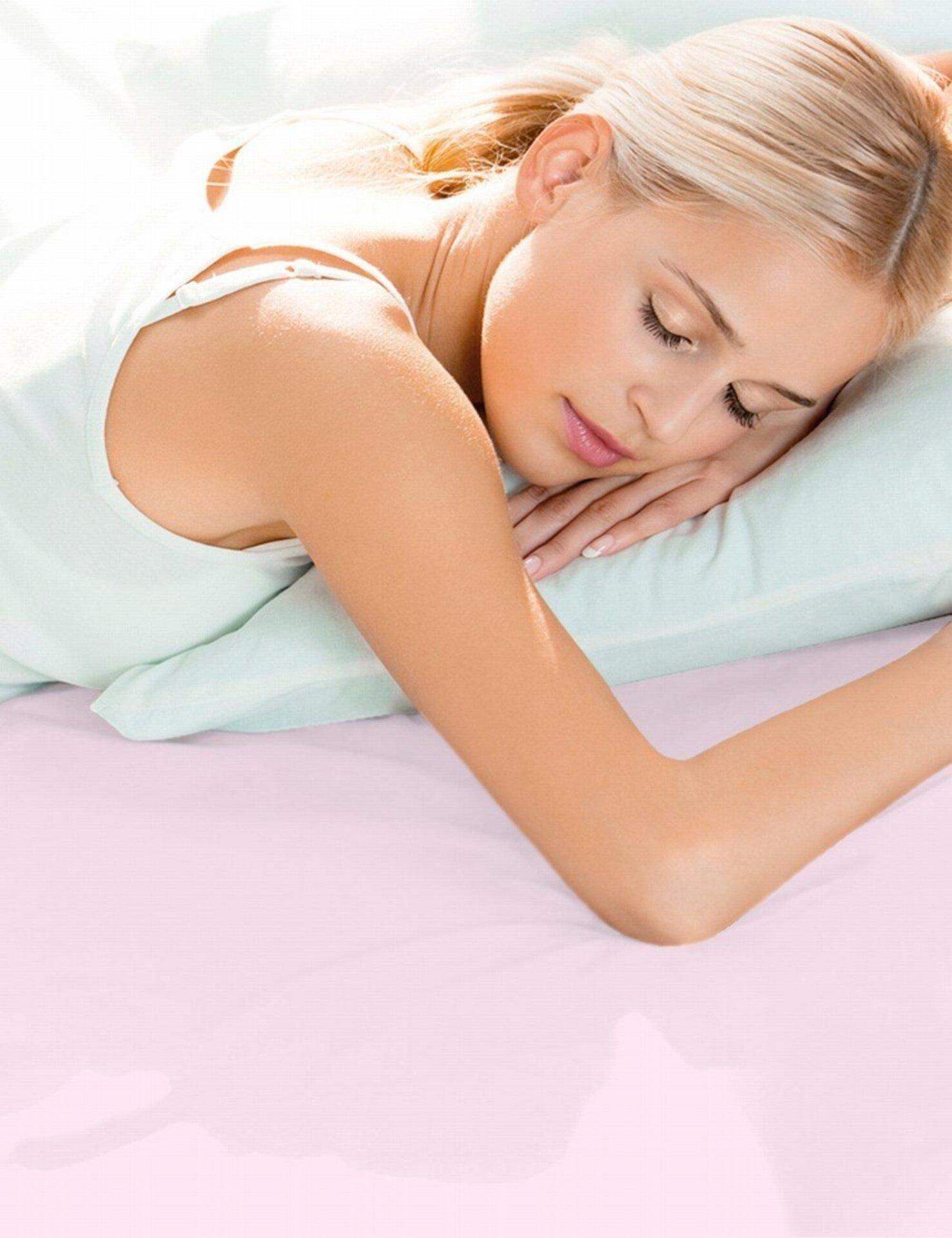 Jersey-Spannbetttuch Schlafgut Textil rosa 100 x 200 cm