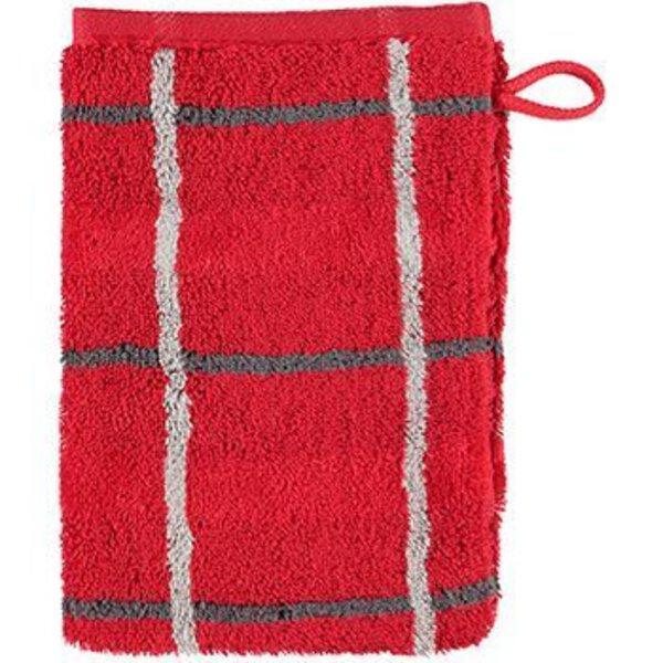 Waschhandschuh Cawö Textil 27 rot