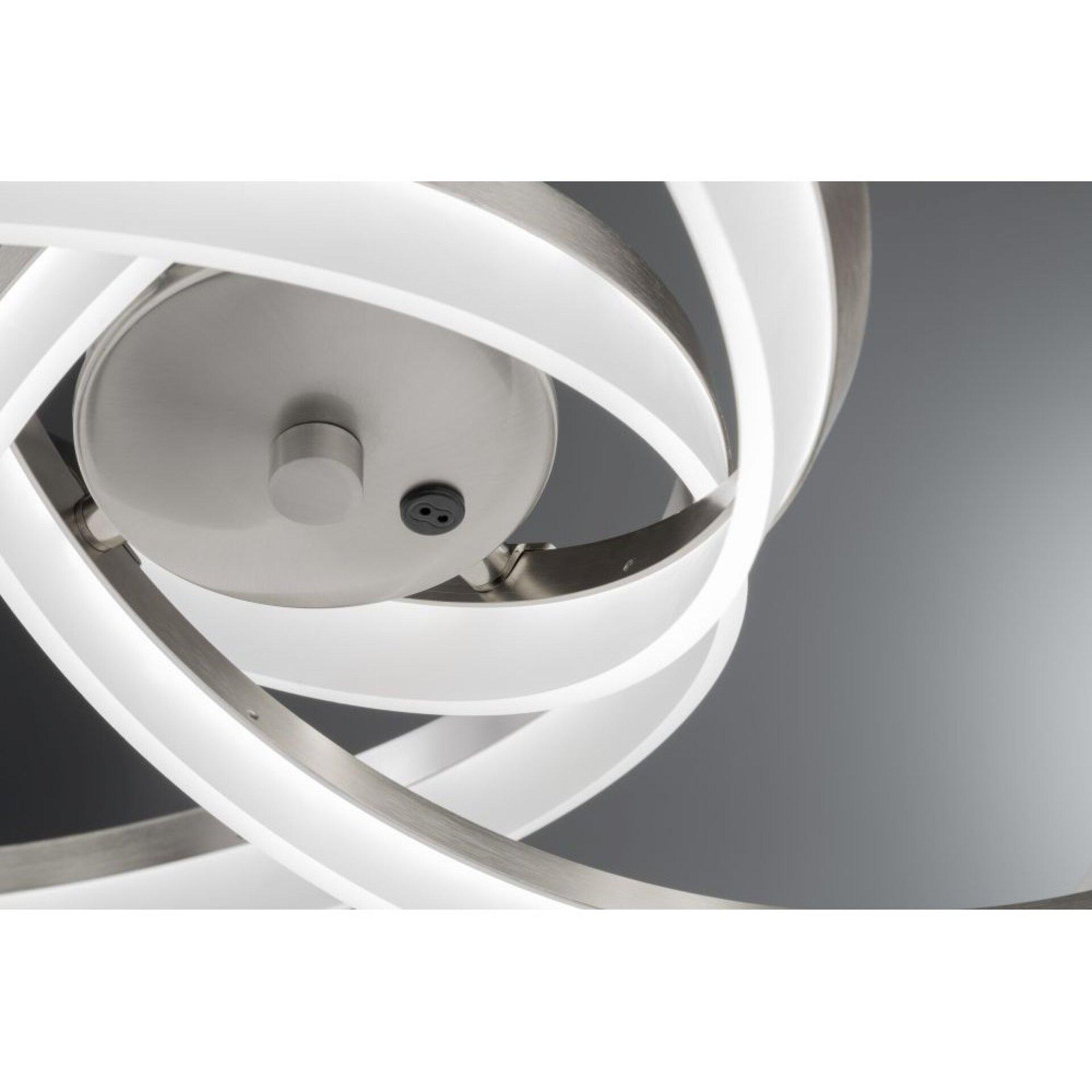 Hängeleuchte Sund Fischer-Honsel Metall silber 65 x 140 x 65 cm