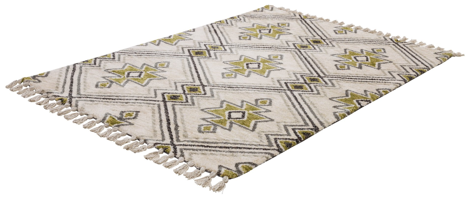 Handtuftteppich Vittoria Gino Falcone Textil grün 1 x 2 cm