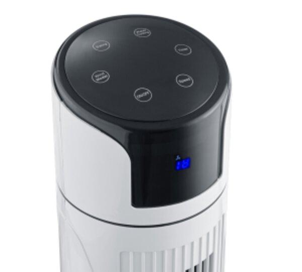 Turmventilator Reality Leuchten Kunststoff weiß ca. 34 cm x 114 cm x 34 cm