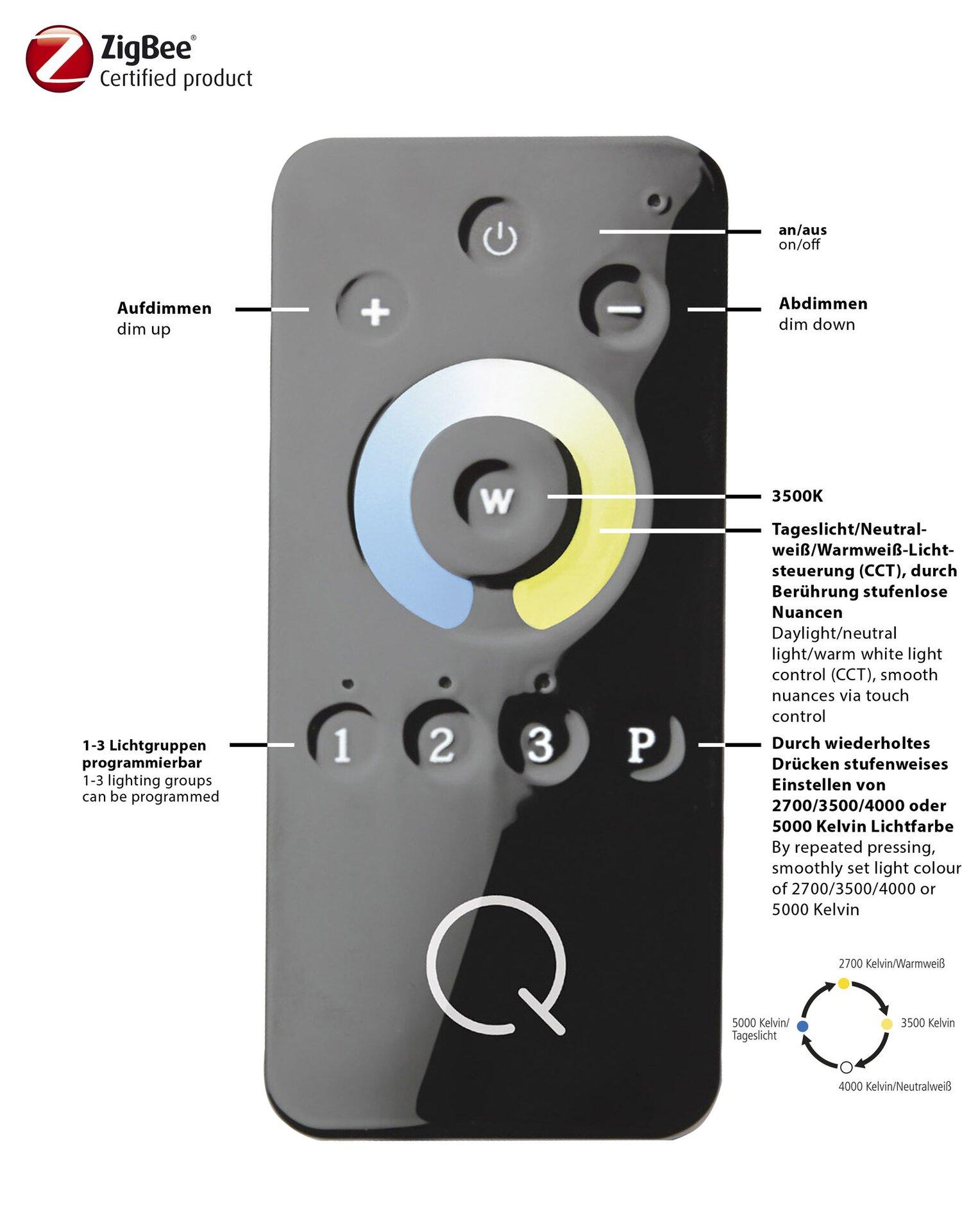 Smart-Home-Leuchten Q-MALINA Paul Neuhaus Metall 14 x 44 x 14 cm