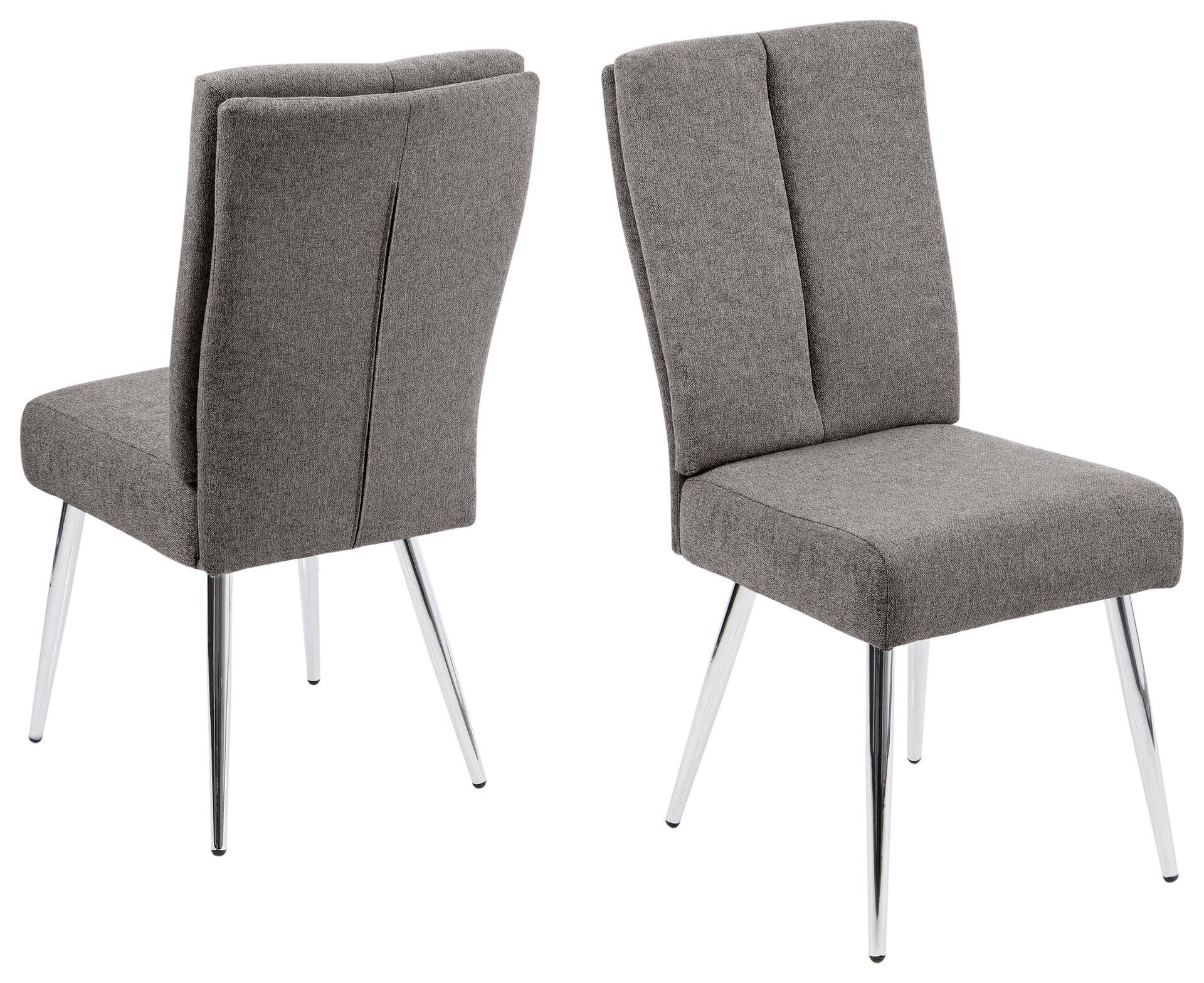 4-Fuß-Stuhl BARI LIV'IN Textil grau 59 x 97 x 45 cm