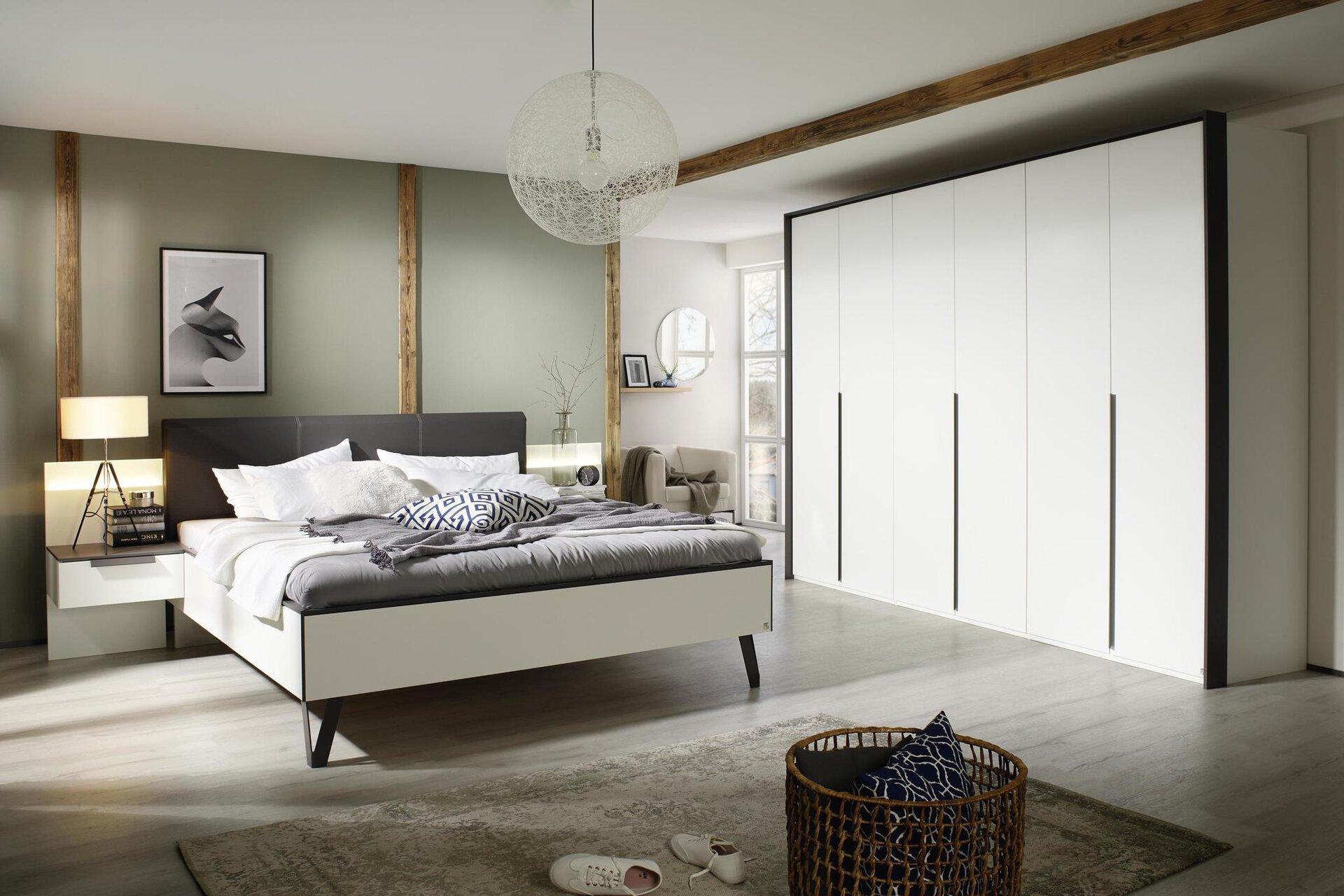 Schlafzimmer LENGO Vito Holzwerkstoff weiß 60 x 223 x 301 cm