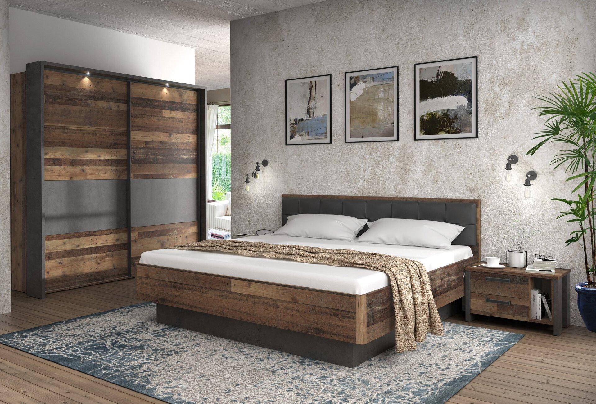 Schwebetürenschrank Clif Binou Forte Holzwerkstoff 62 x 211 x 270 cm