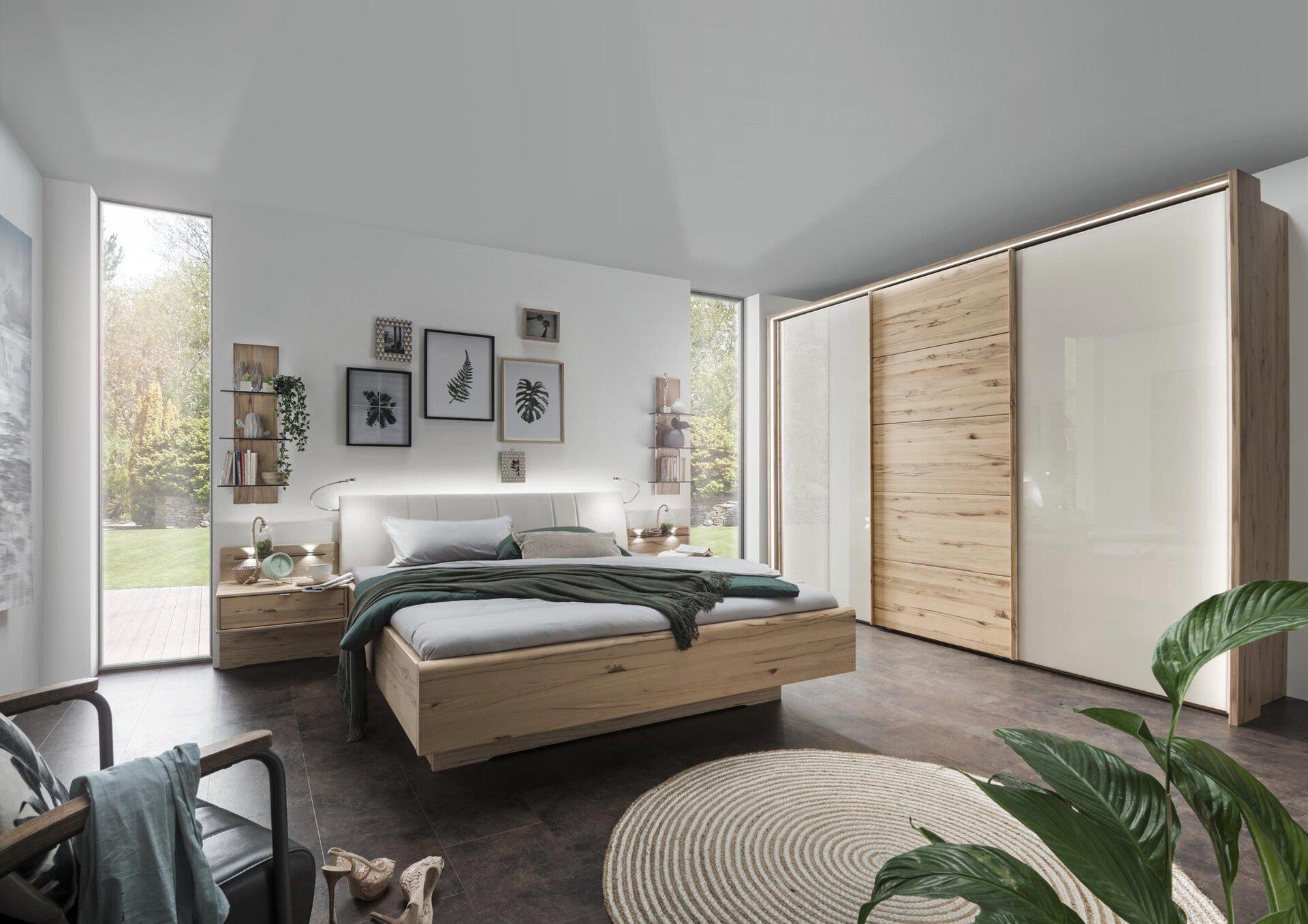 Schlafzimmer ARREZZO MONDO Holzwerkstoff mehrfarbig 67 x 217 x 300 cm