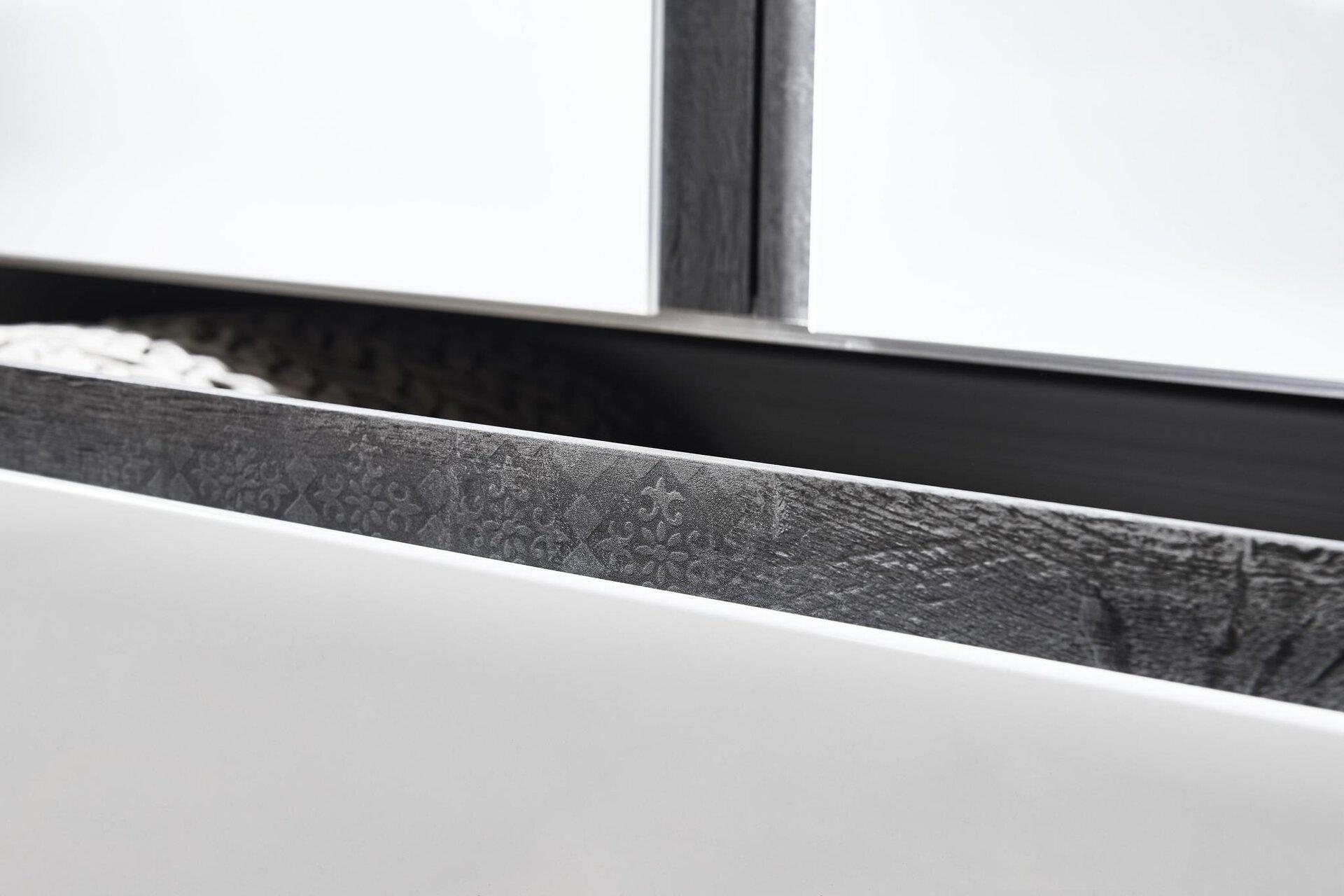 Drehtürenschrank Catun MONDO Holzwerkstoff weiß 61 x 223 x 300 cm