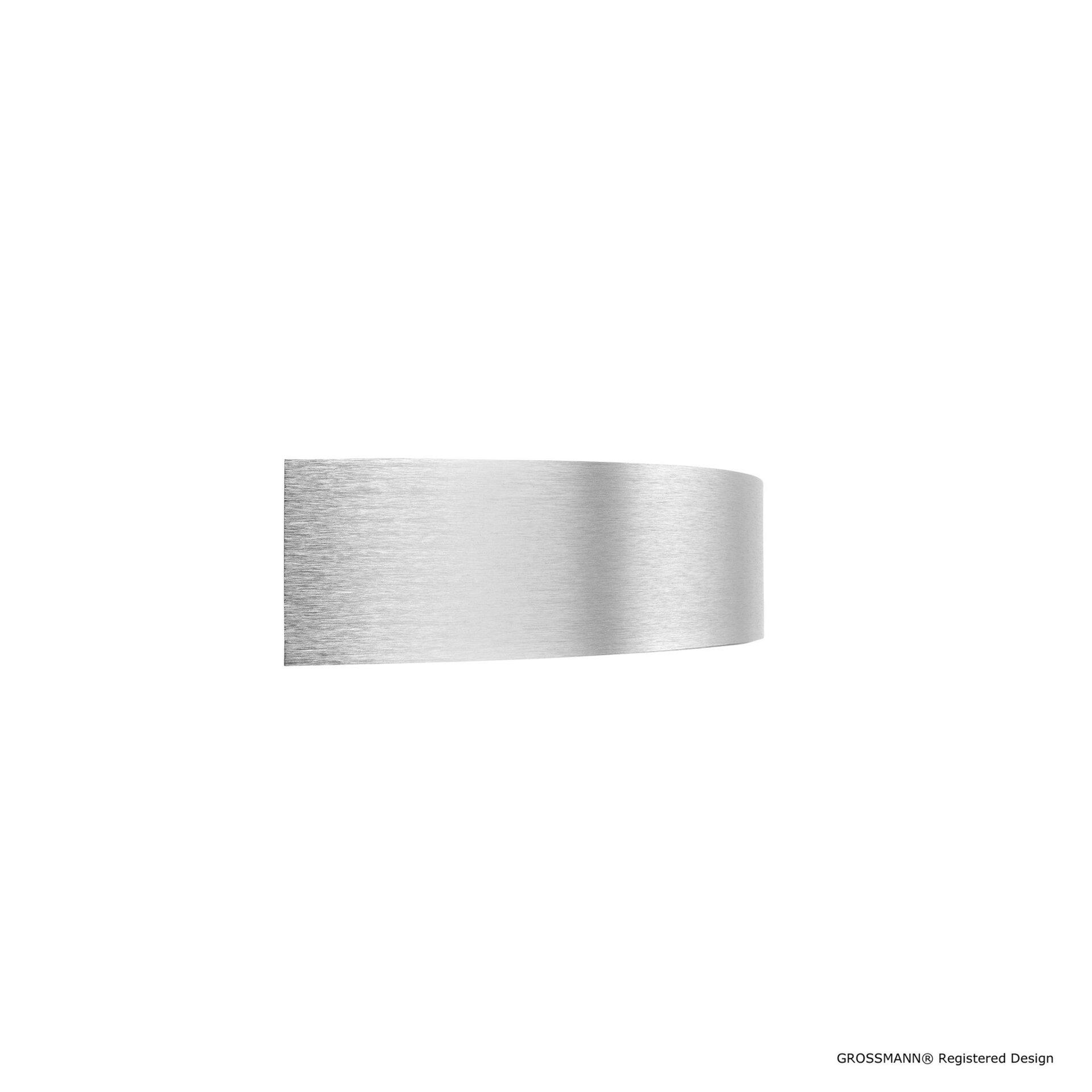 Wandleuchte calimero Grossmann Metall silber 19 x 7 x 37 cm