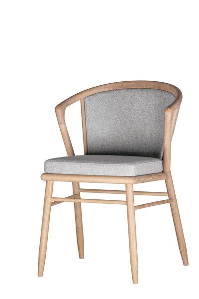 Stuhl Voglauer Holzwerkstoff MG Loden grauweiß ca. 57 cm x 83 cm x 56 cm