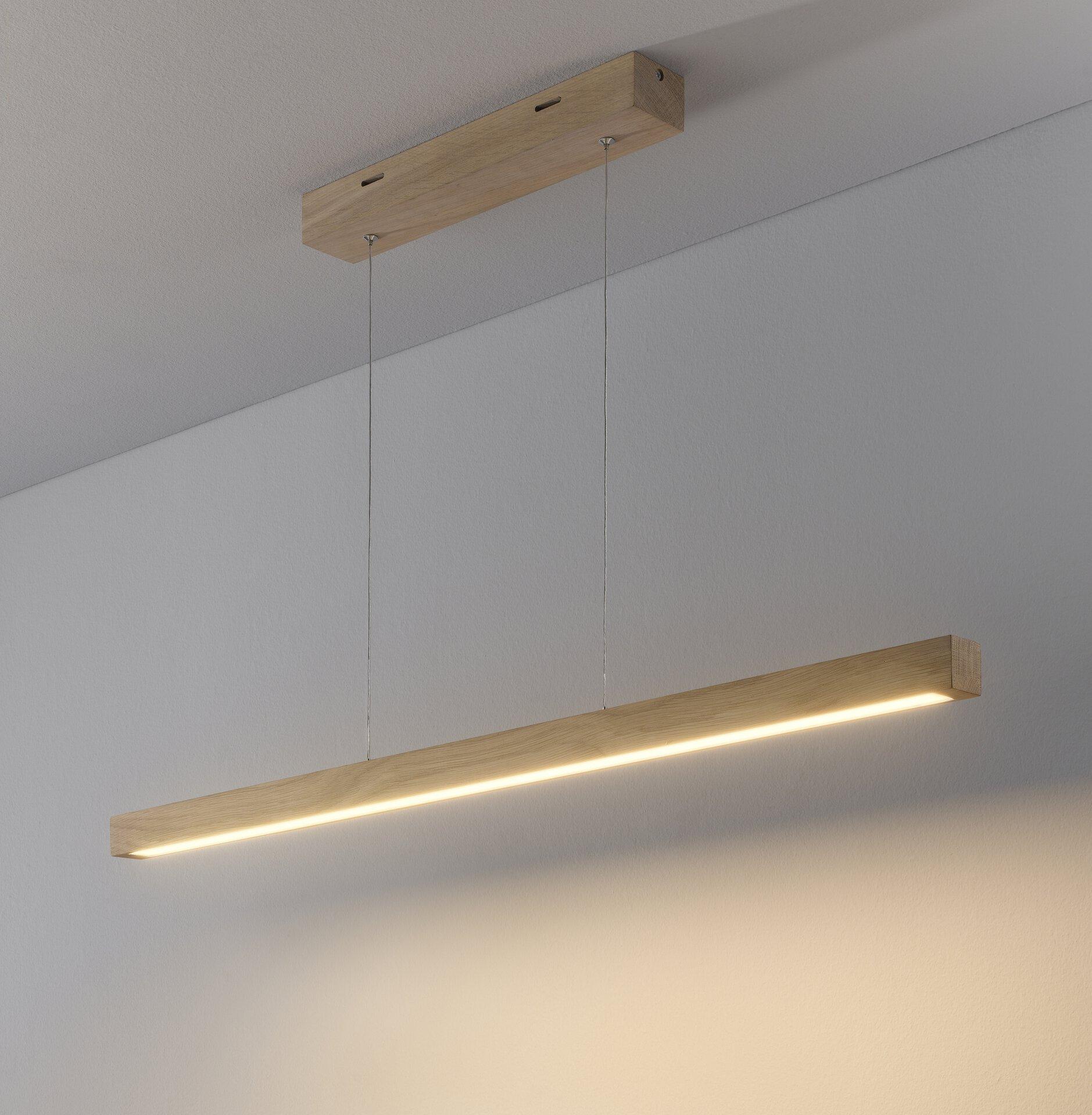 Hängeleuchte SMAL MONDO Holz braun 4 x 110 x 100 cm