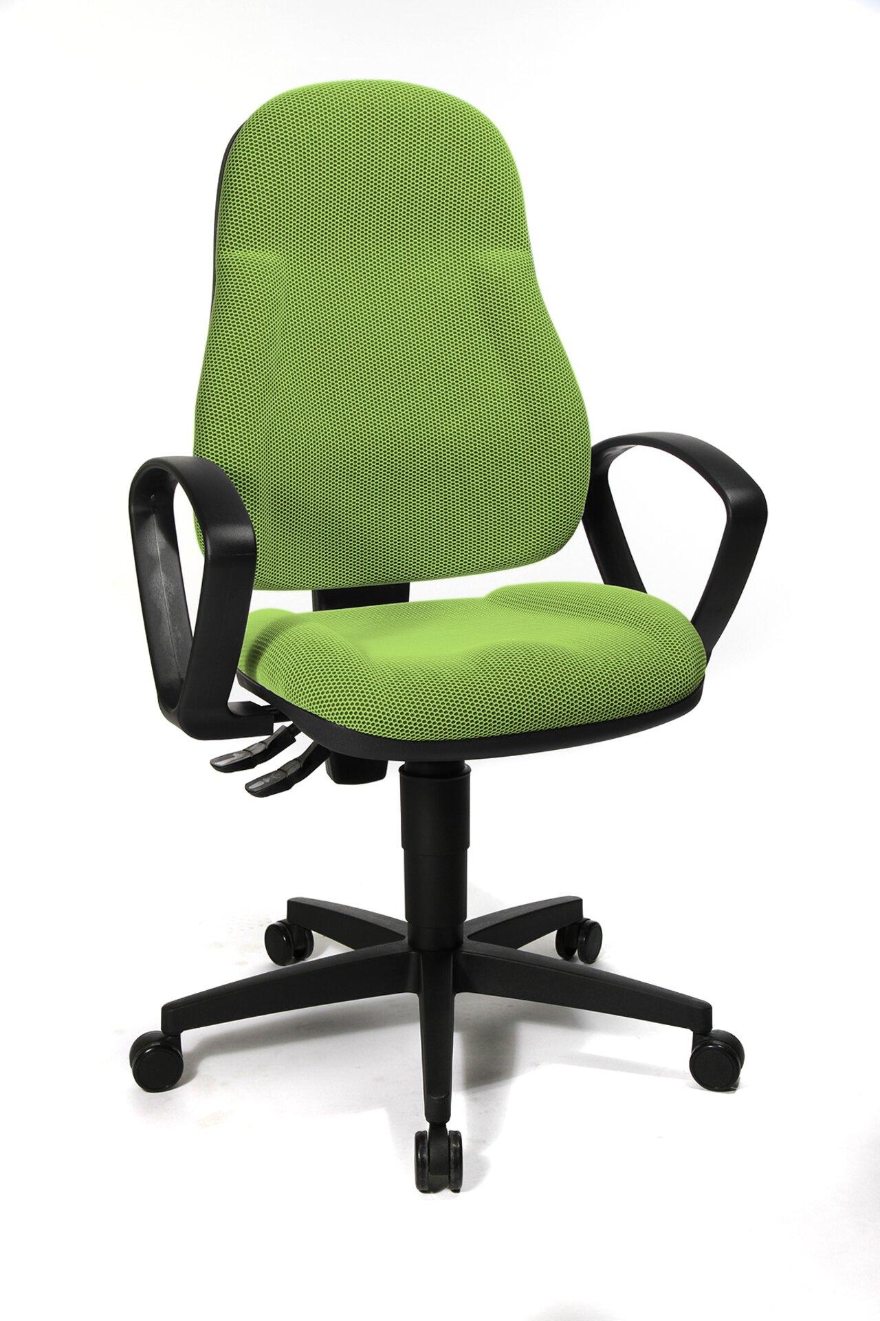 Büro-Drehstuhl WELLPOINT Topstar Textil grün 45 x 118 x 46 cm