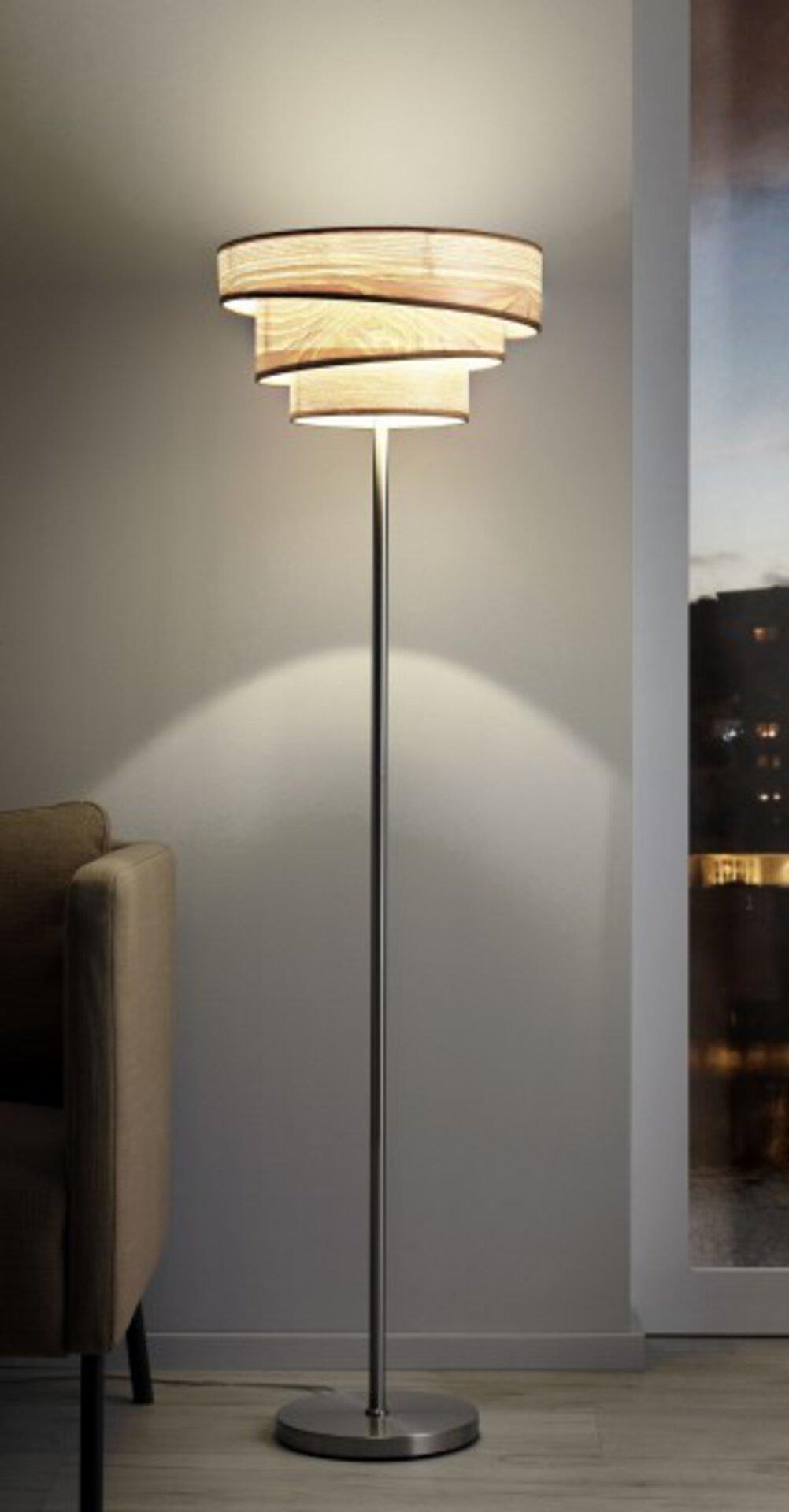 Stehleuchte Woody MONDO Metall beige 40 x 145 x 40 cm