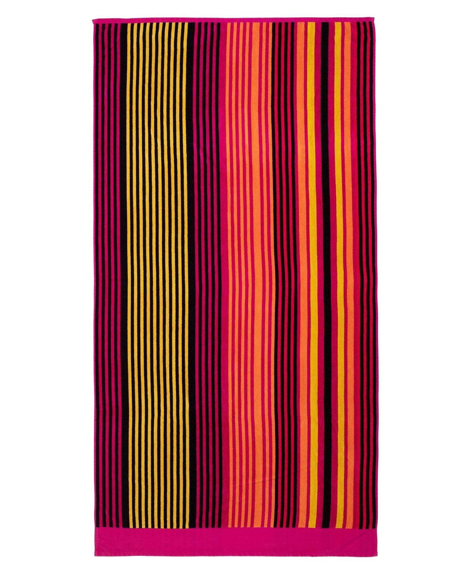 Strandtuch Streifen pink Ambiente Trendlife Textil rot 90 x 180 cm